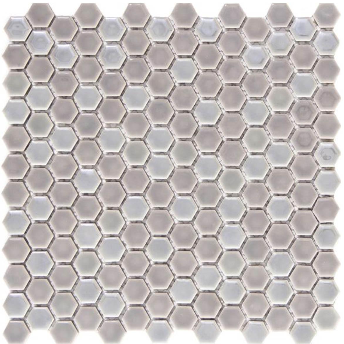 Confetti Hexagon Silver