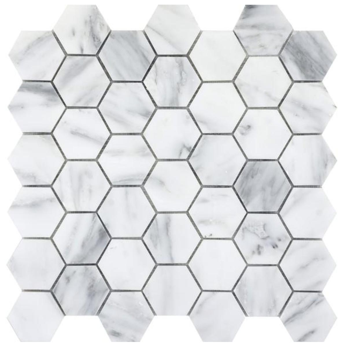 Winter Frost Large Hexagon
