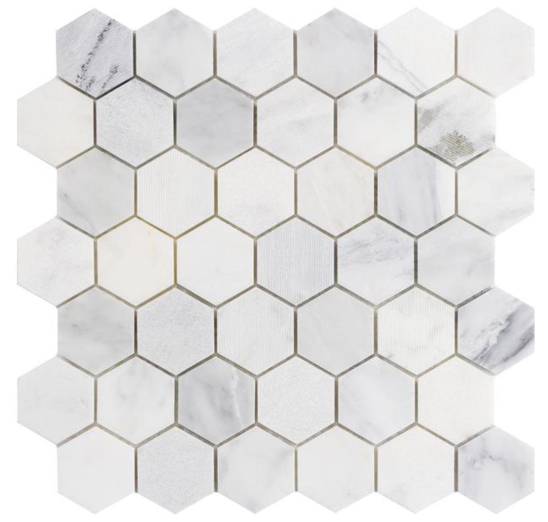 """Winter Frost 2"""" Hexagon"""