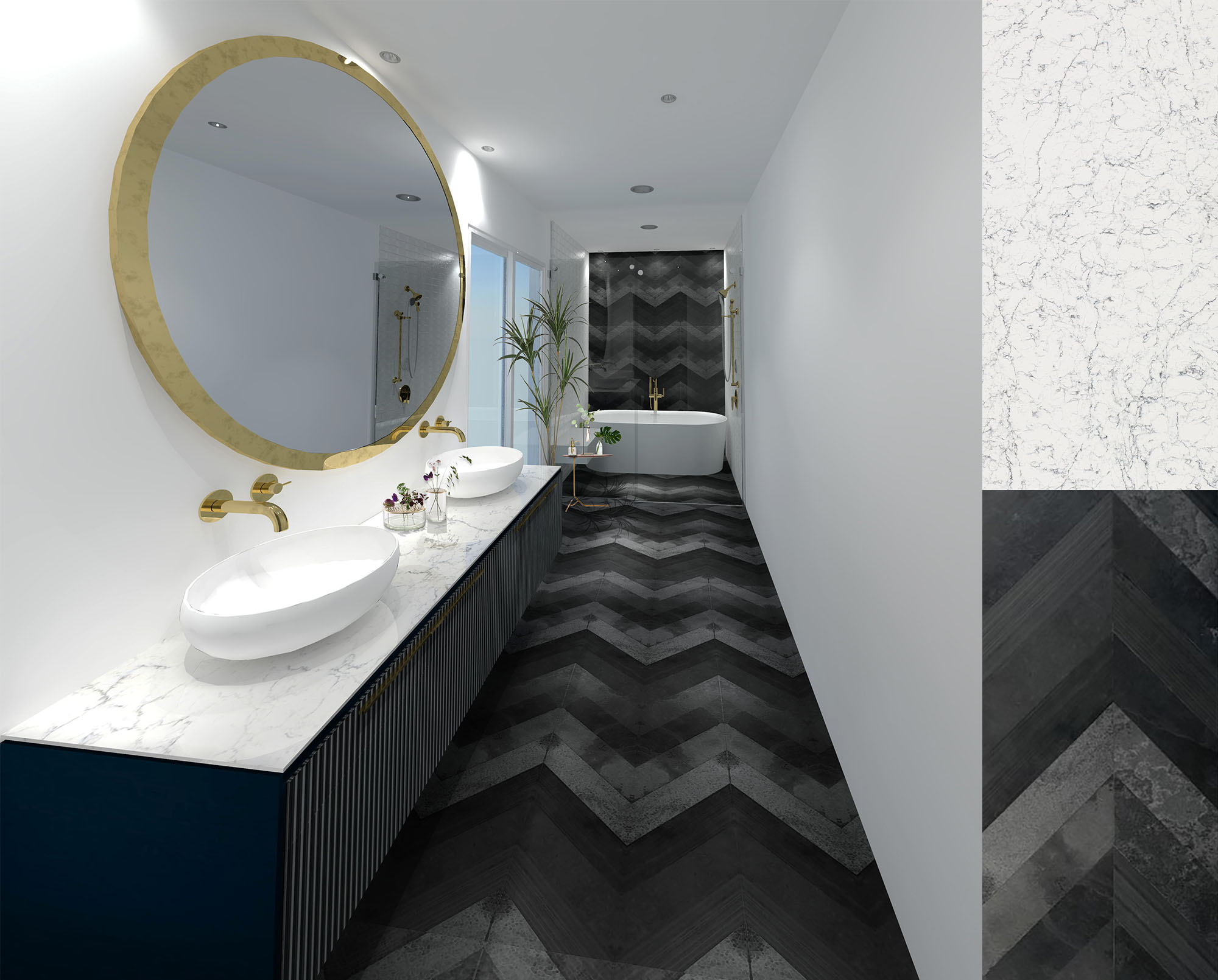spazio la tile gallery free 3d render black bath.jpg