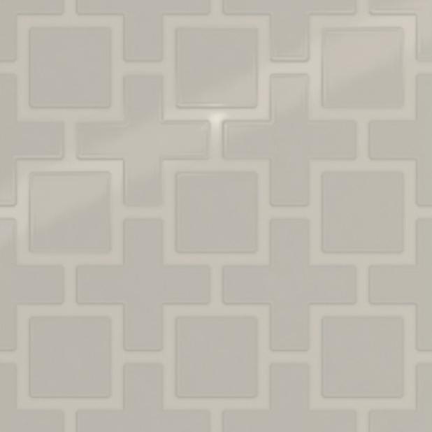 Showscape Soft Grey Square Lattice