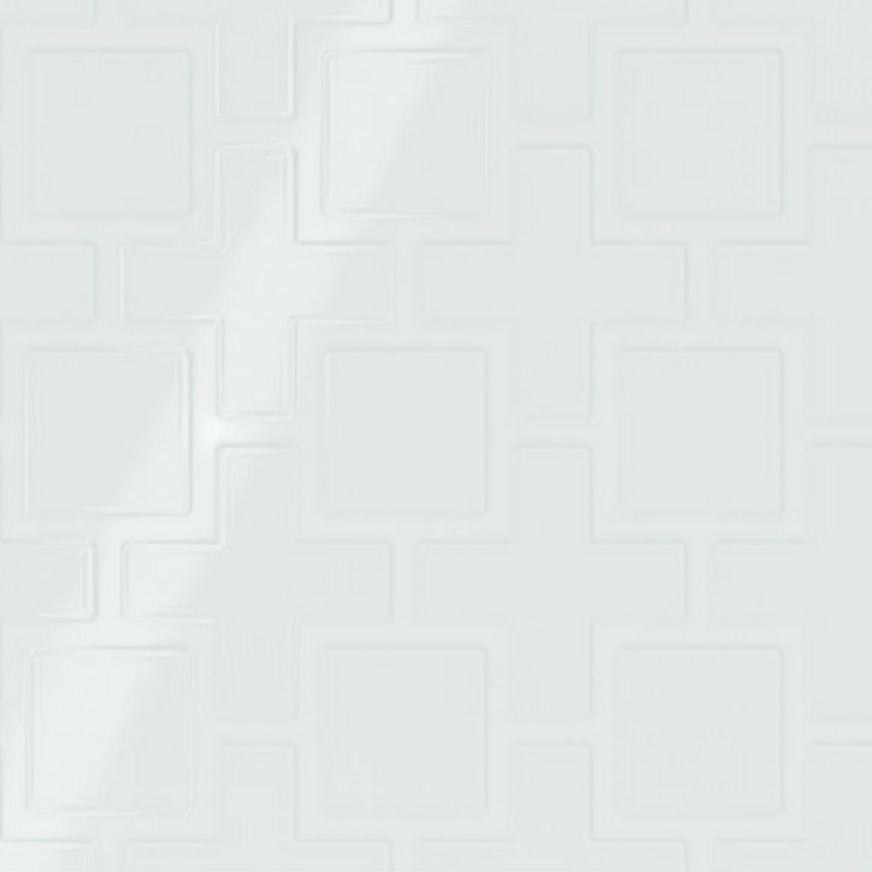 Showscape Stylish White Square Lattice