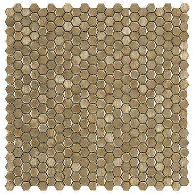 Gravity Aluminium Hexagon Gold