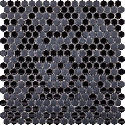 Glaze Mini Hexagon Black