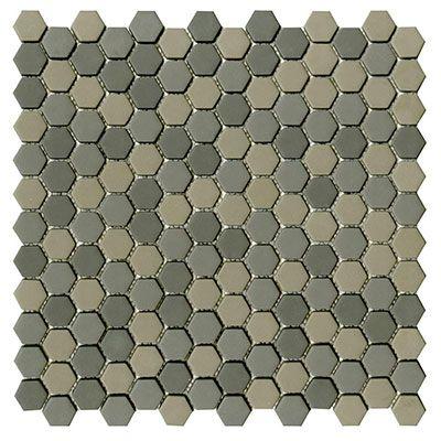 Glaze Hexagon Greys Matt