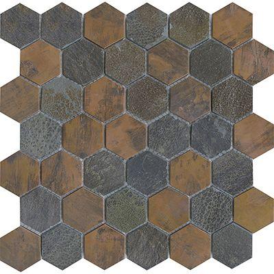 Worn Hexagon Copper