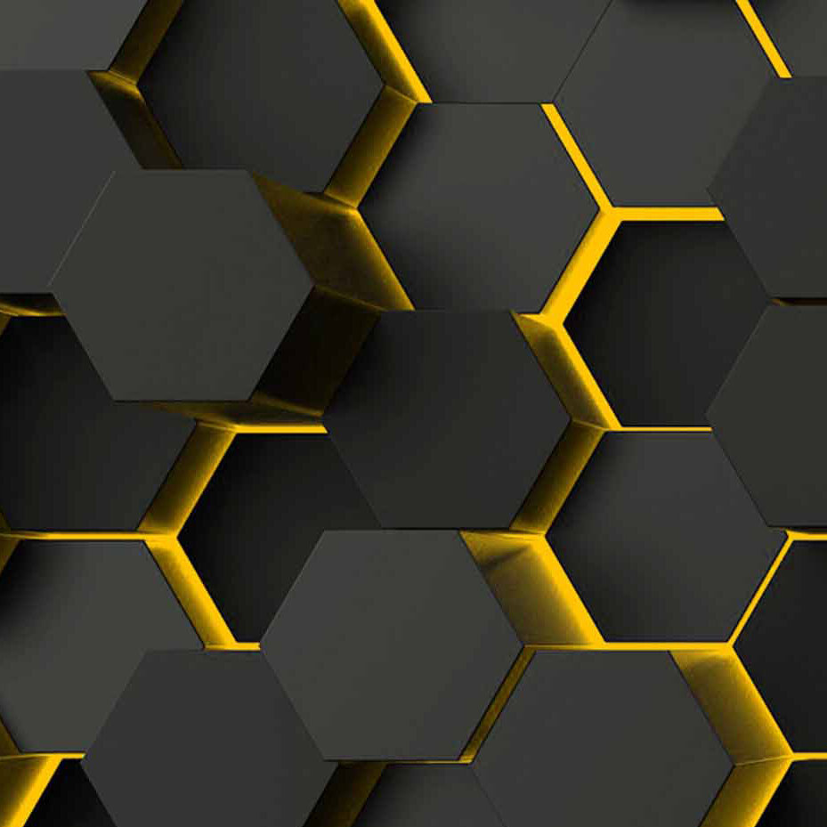 Hexagons Yellow