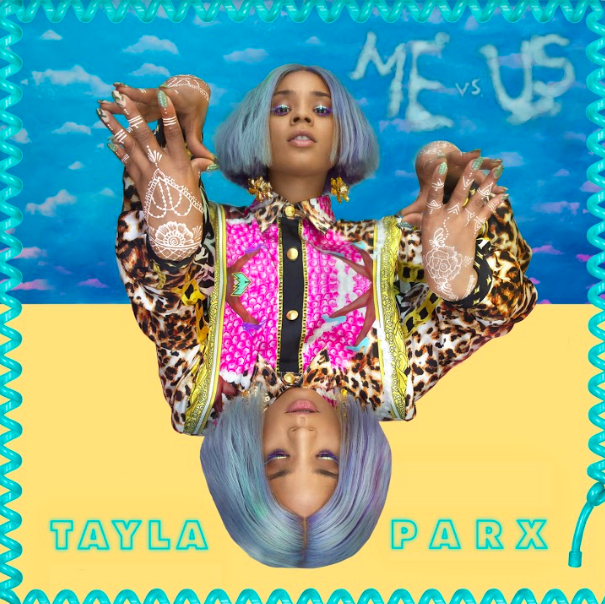 "Tayla Parx wearing Giobbi on the cover of her single ""Me vs Us"""