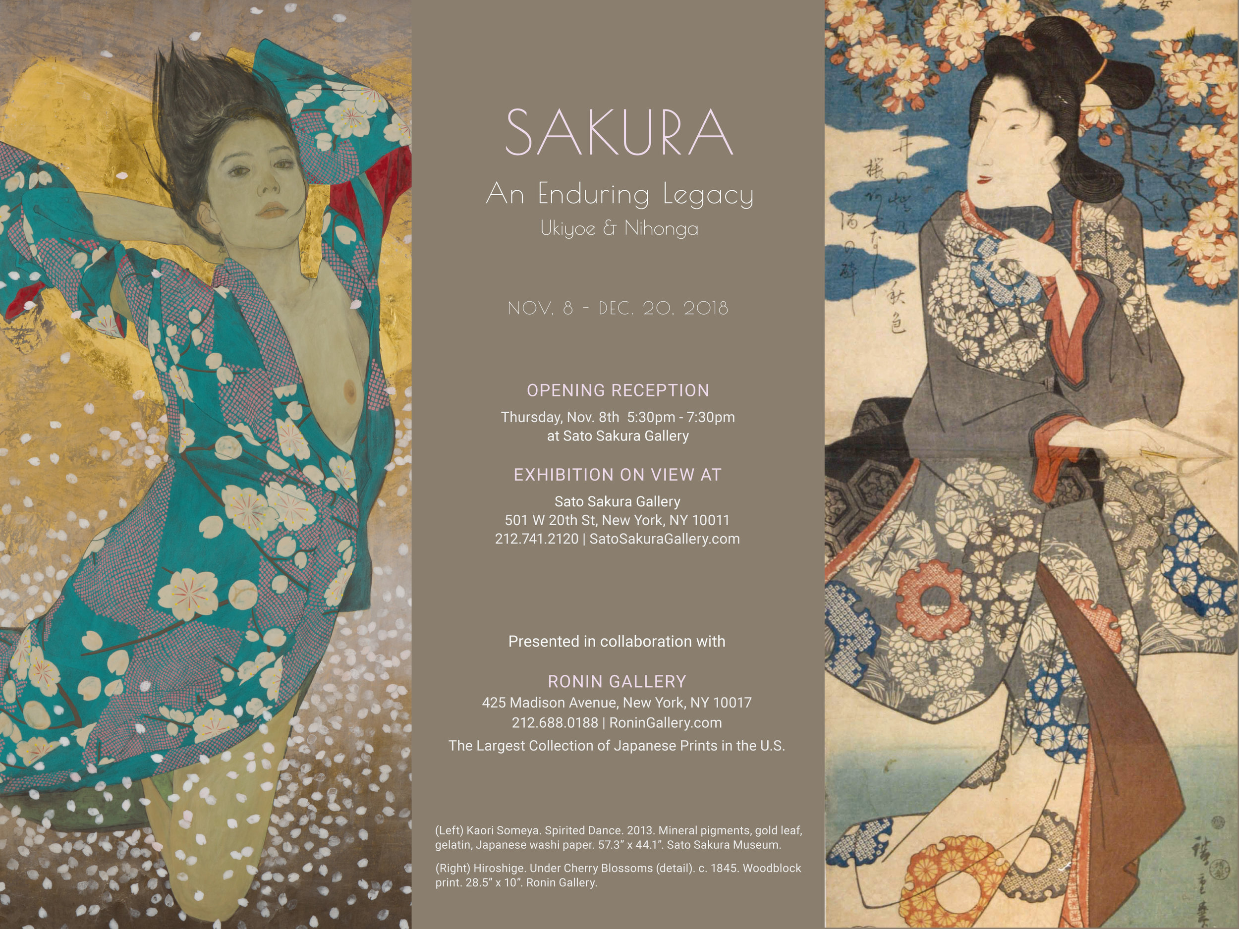 Enduring Traditions: Sato Sakura Gallery New York and Ronin Gallery