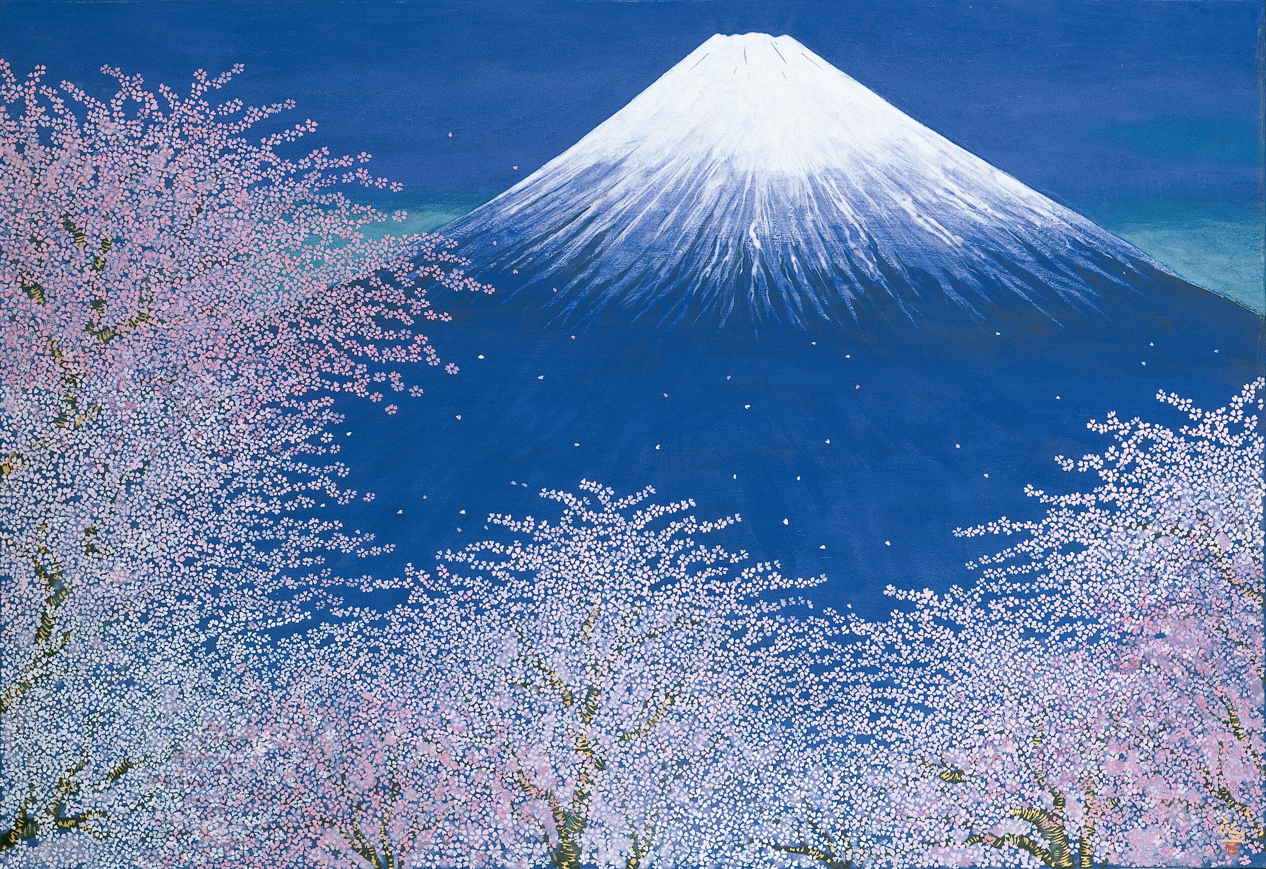 平松礼二《富士と桜図》2005