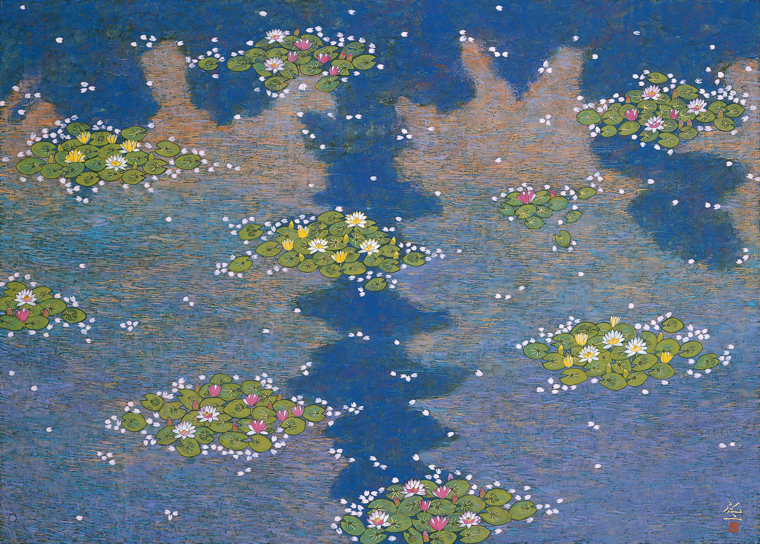 Reiji Hiramatsu 'Japonism - Monet's Pond' 2003
