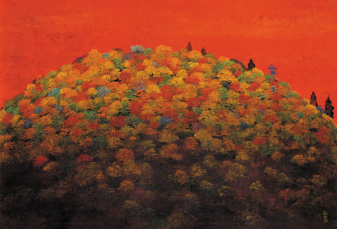 平松礼二《路・かまくら装秋曲》1993