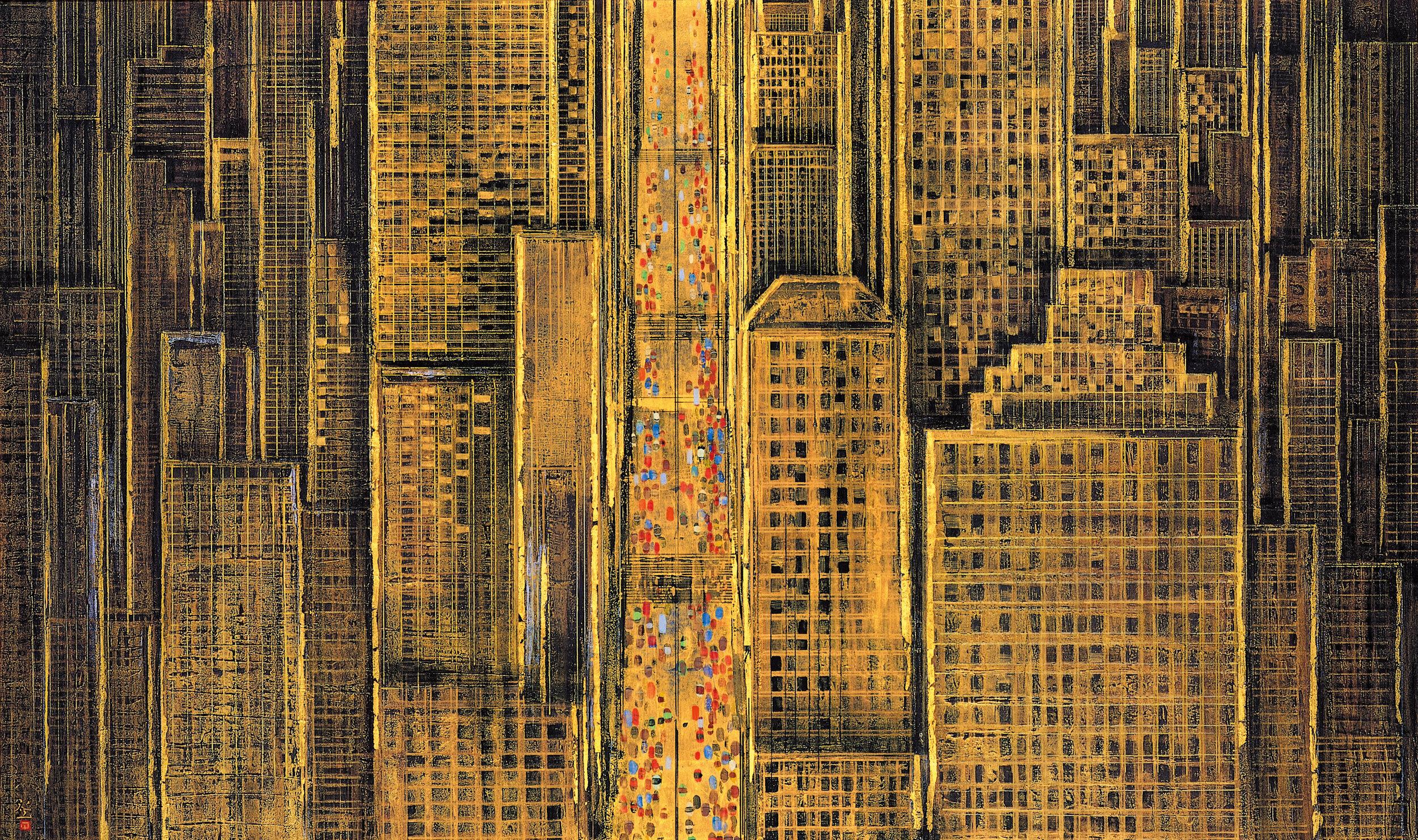 平松礼二《NEW YORK-TOWN(Ⅱ)》1994