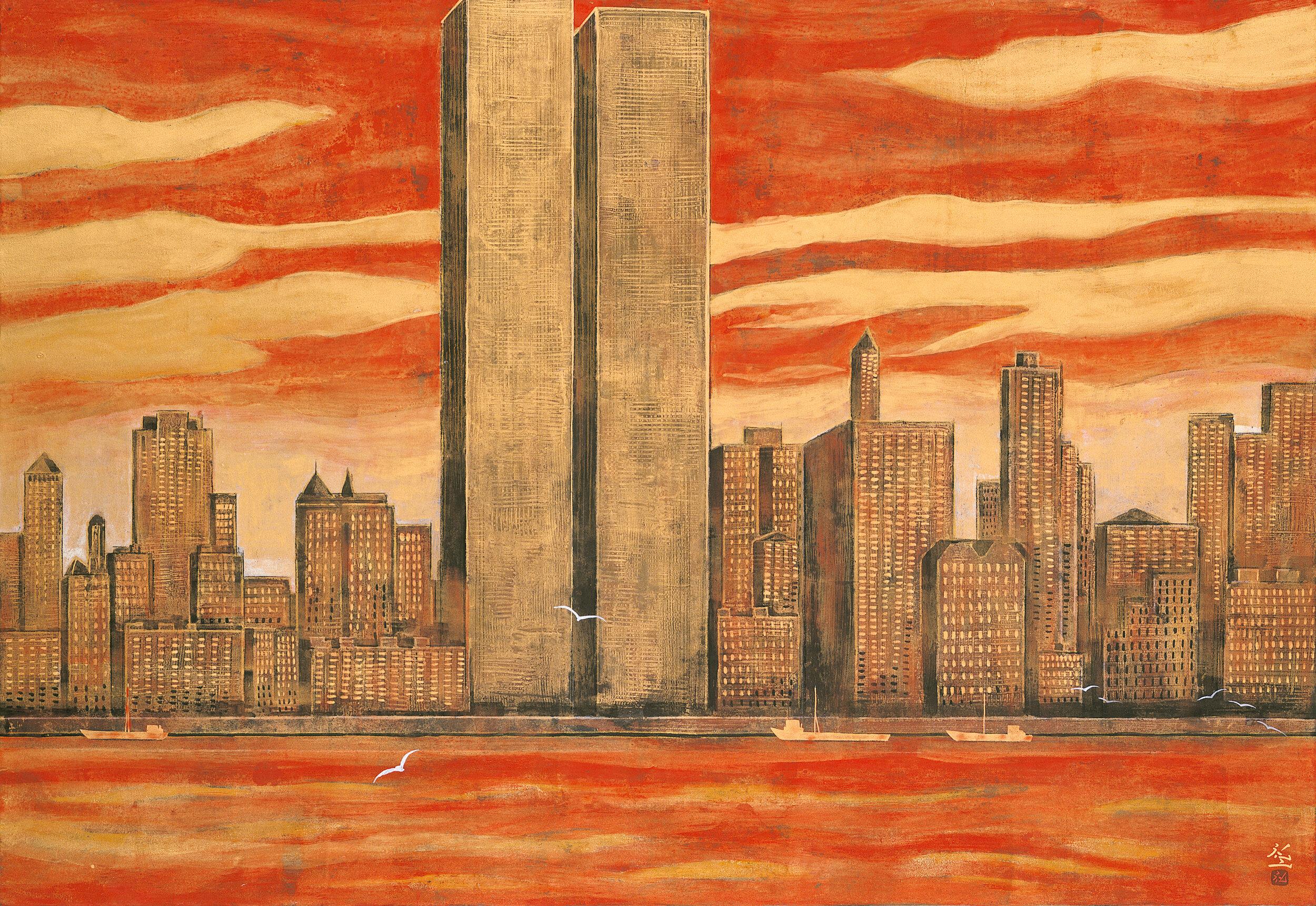 平松礼二《NEWYORKにてー1990》1994