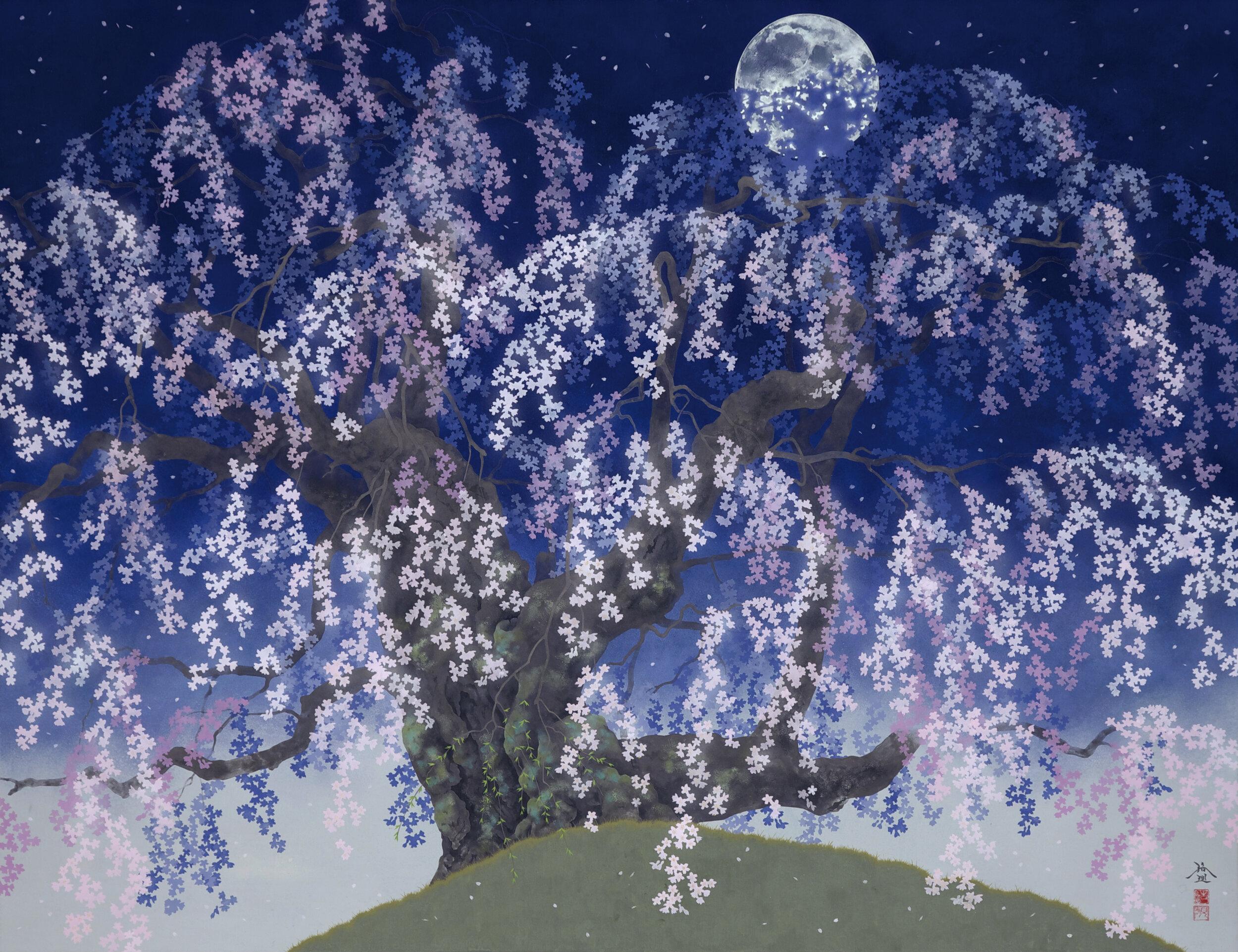 Hiroki takahashi 'Cherry blossoms on a moonlit night' 2016
