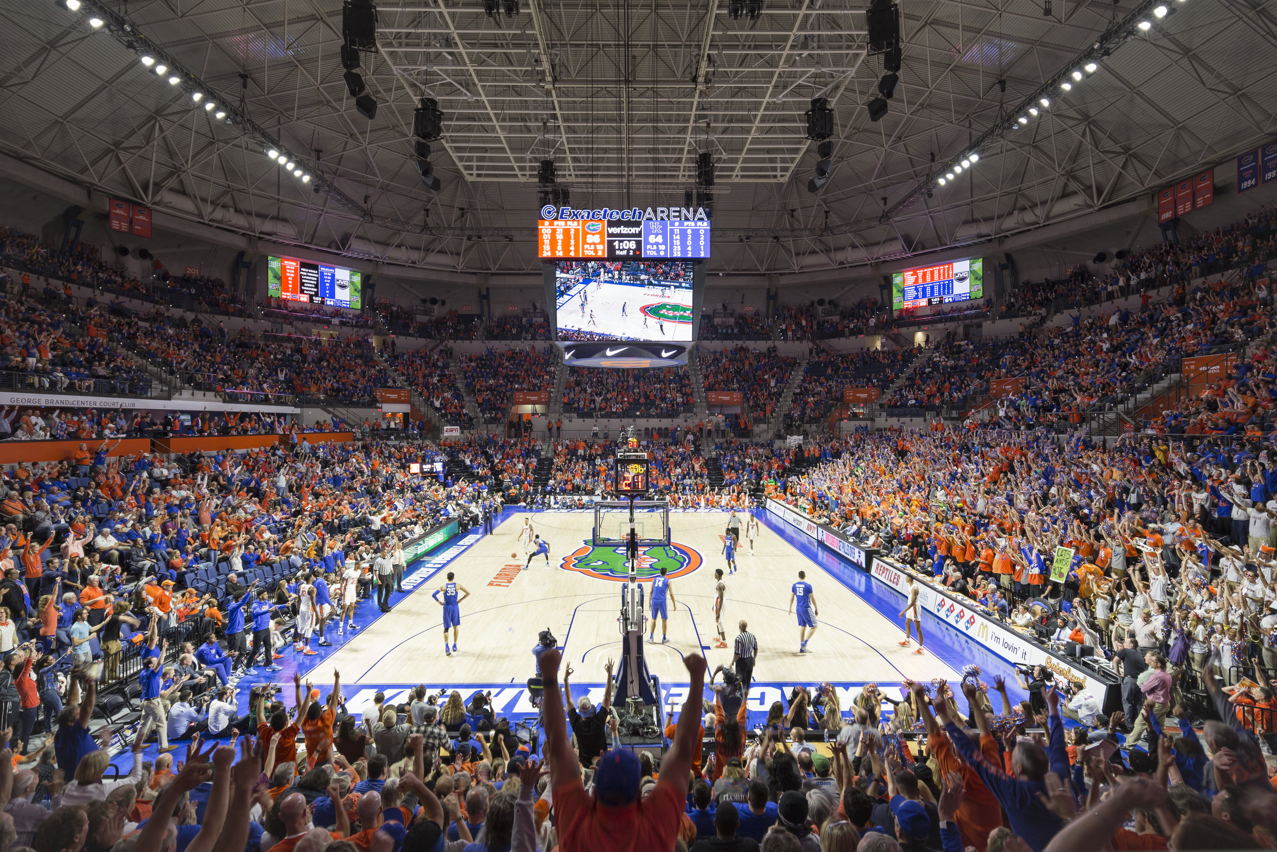 Exactech Arena at the Stephen C. O'Connell Center for the University of Florida