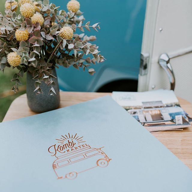 Our beautiful custom guest book. Perfectly store your Kombi Kartel memories. Oh and it's included when you book Bot! 📸 @pineappleimages