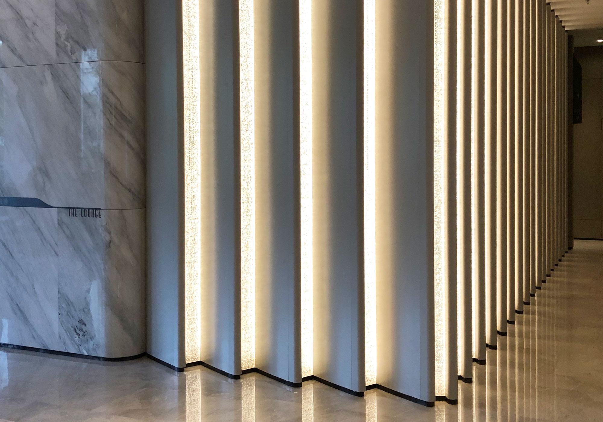 Tape Lights Hotel Lobby