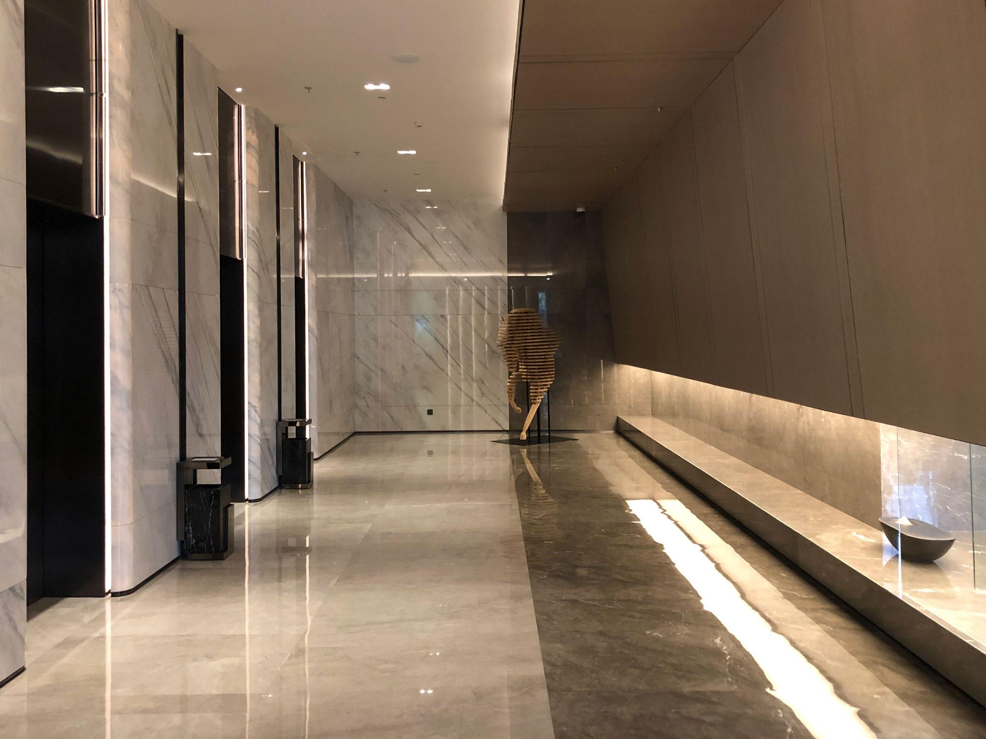 Tape Lights Lobby