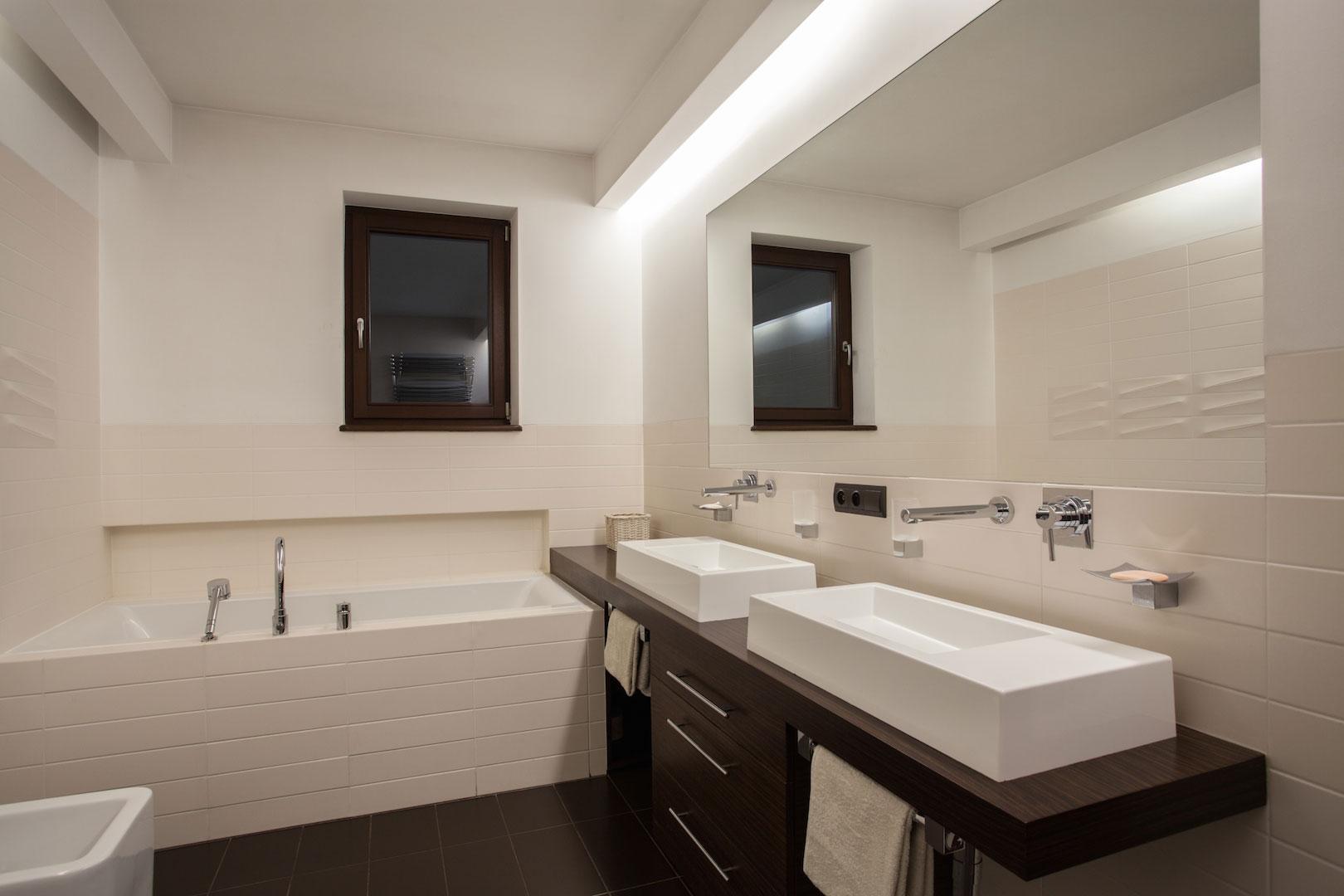 Tape Lights Bathroom