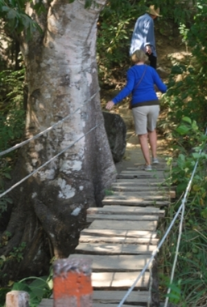 Another footbridge we used. SKETCHY!