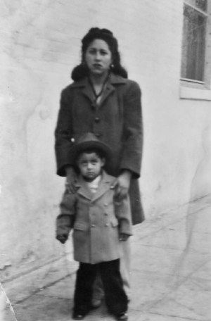 My grandmother and father circa. 1944.
