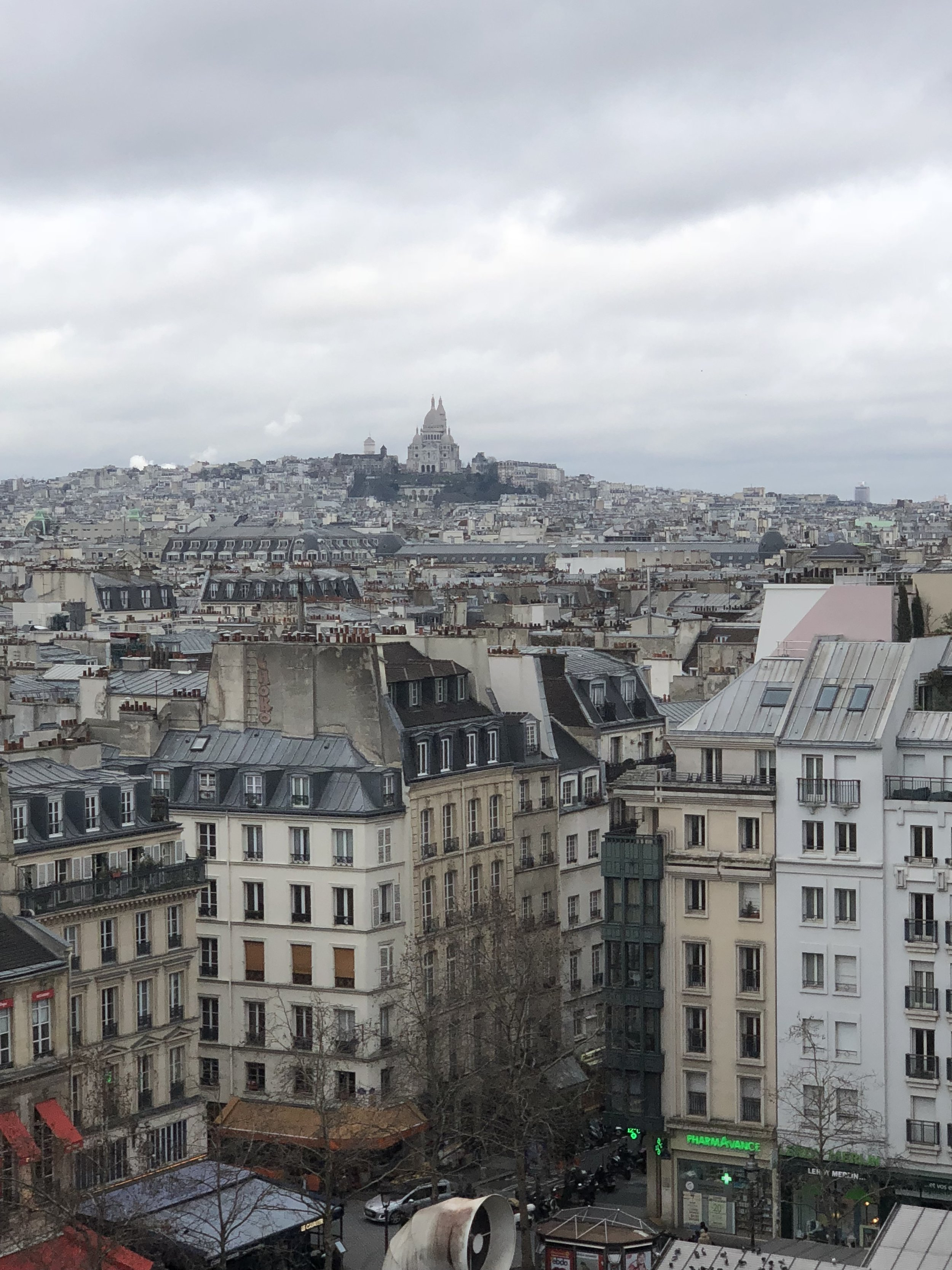 Montmartre seen from the Pompidou Center