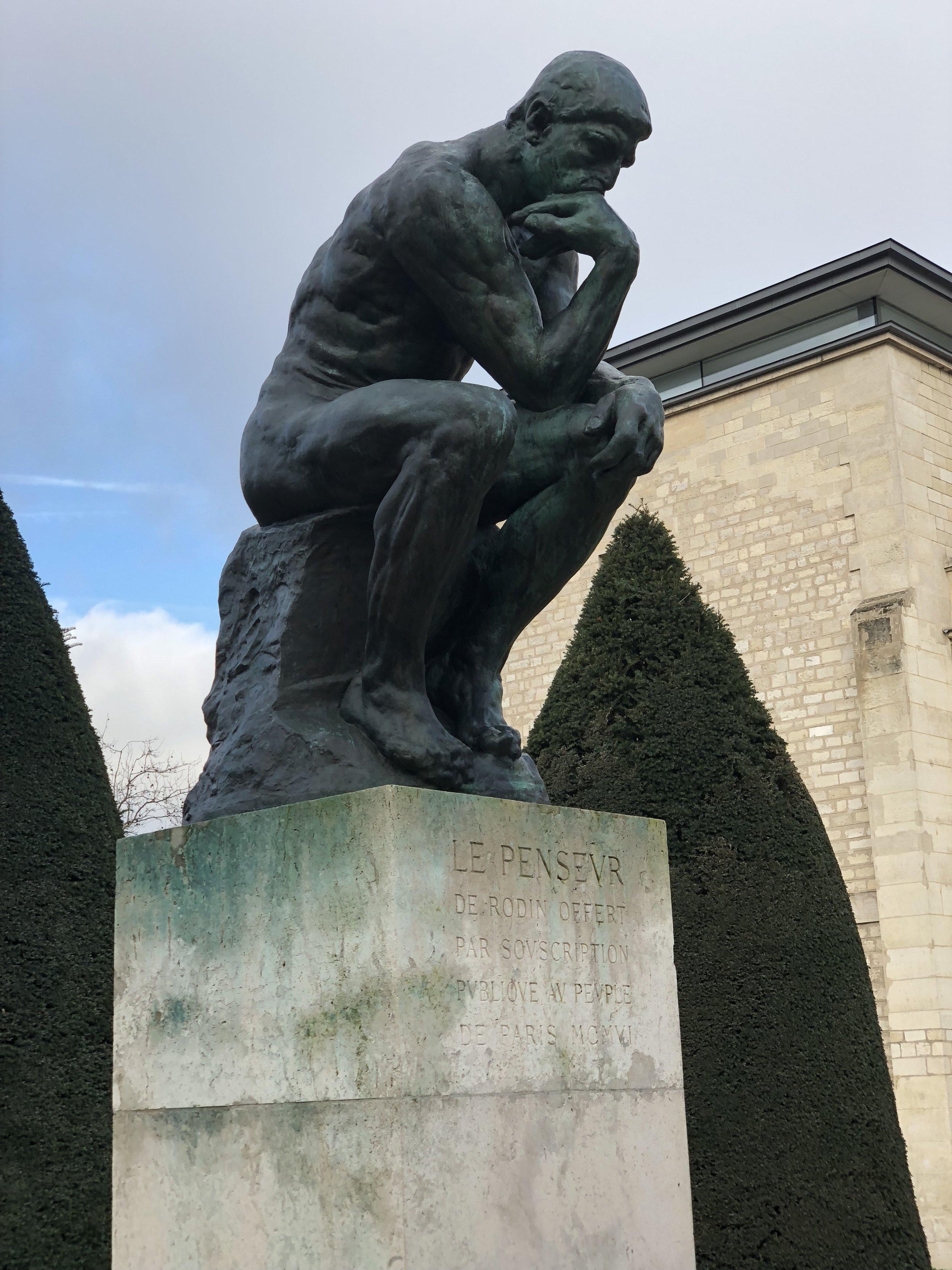 "The ""Thinker"" -- Rodin Museum."