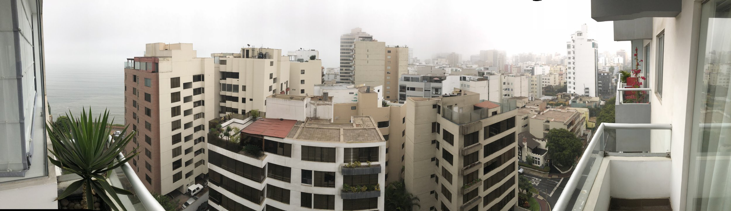 The Skyline in Miraflores from My Balcony