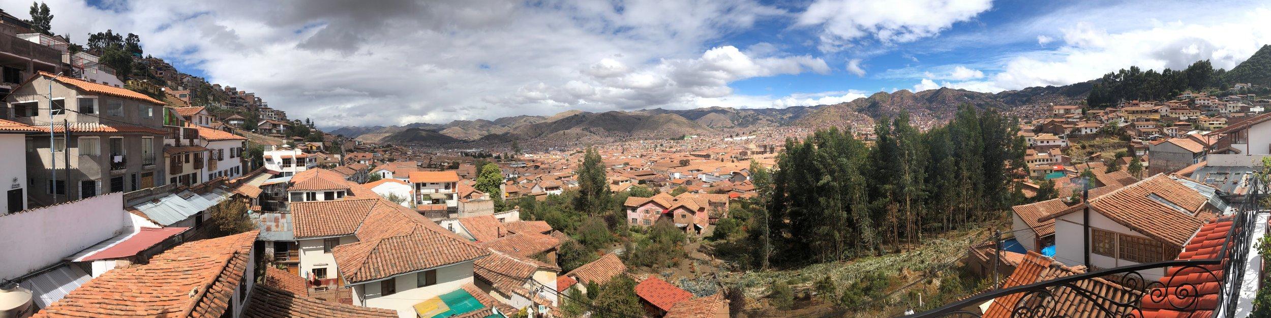 View of Cusco from San Blas