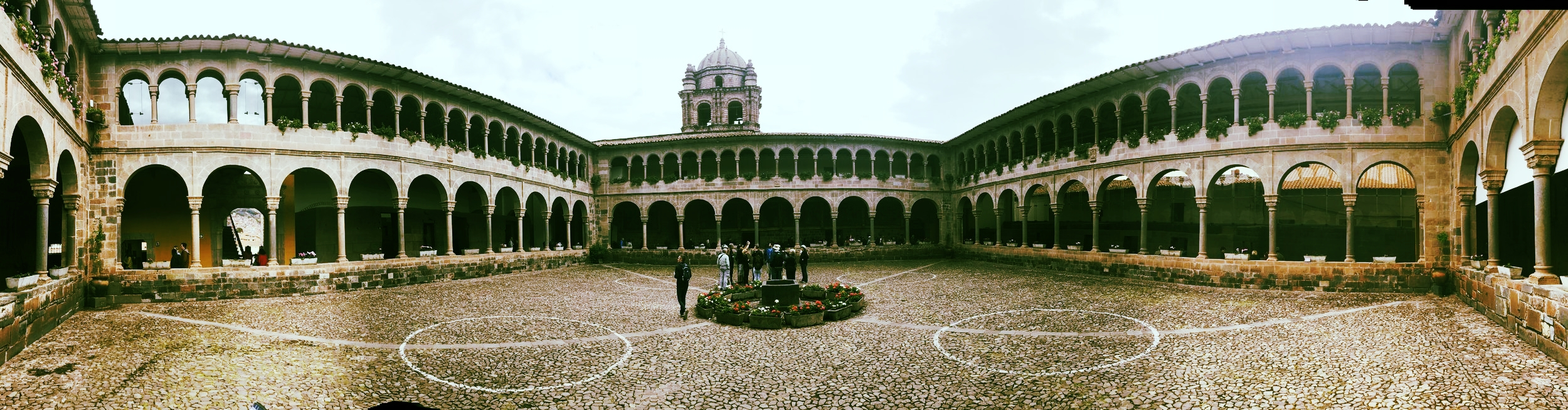 The Interior Courtyard of the Church of Santo Domingo/Qorikancha
