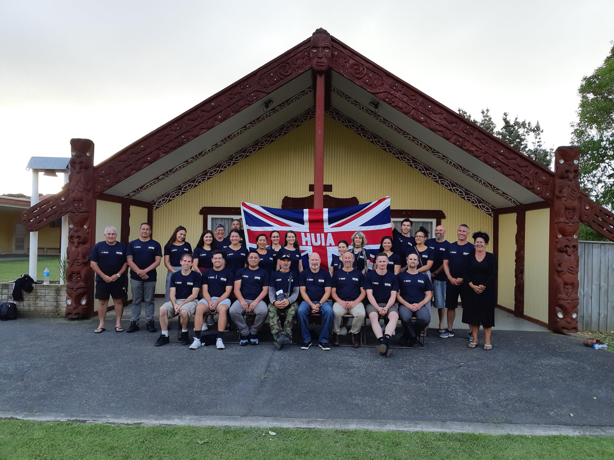 SING Interns and Faculty at Matau marae - January 2019