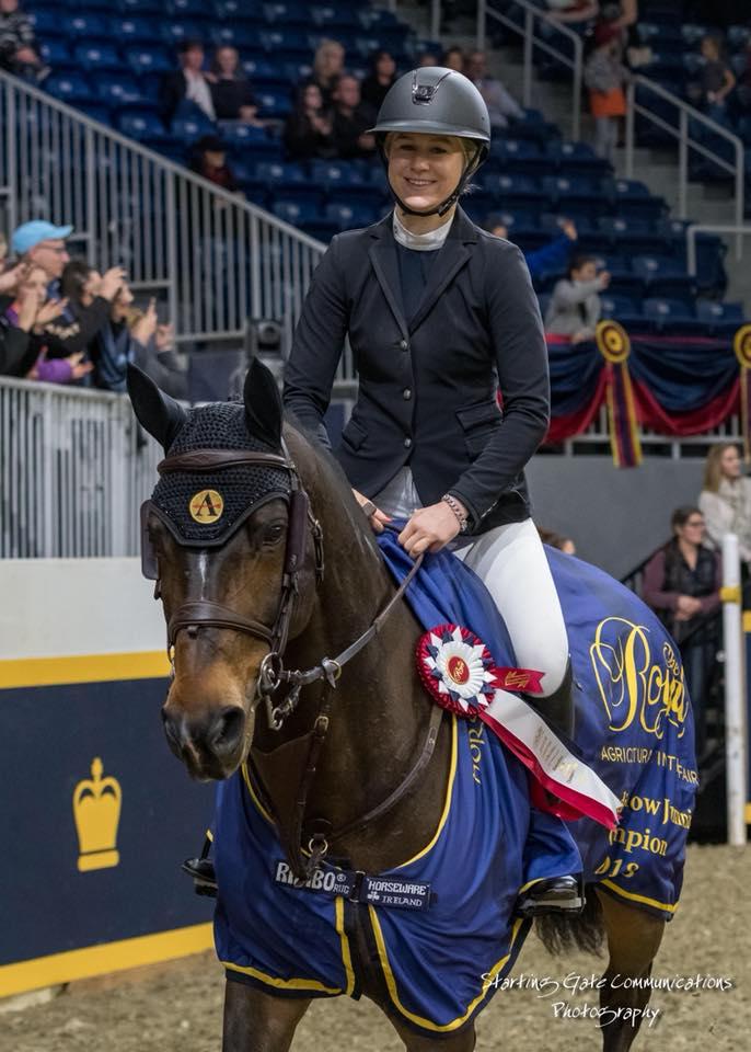 Nikki Walker winning at The Royal Horse show