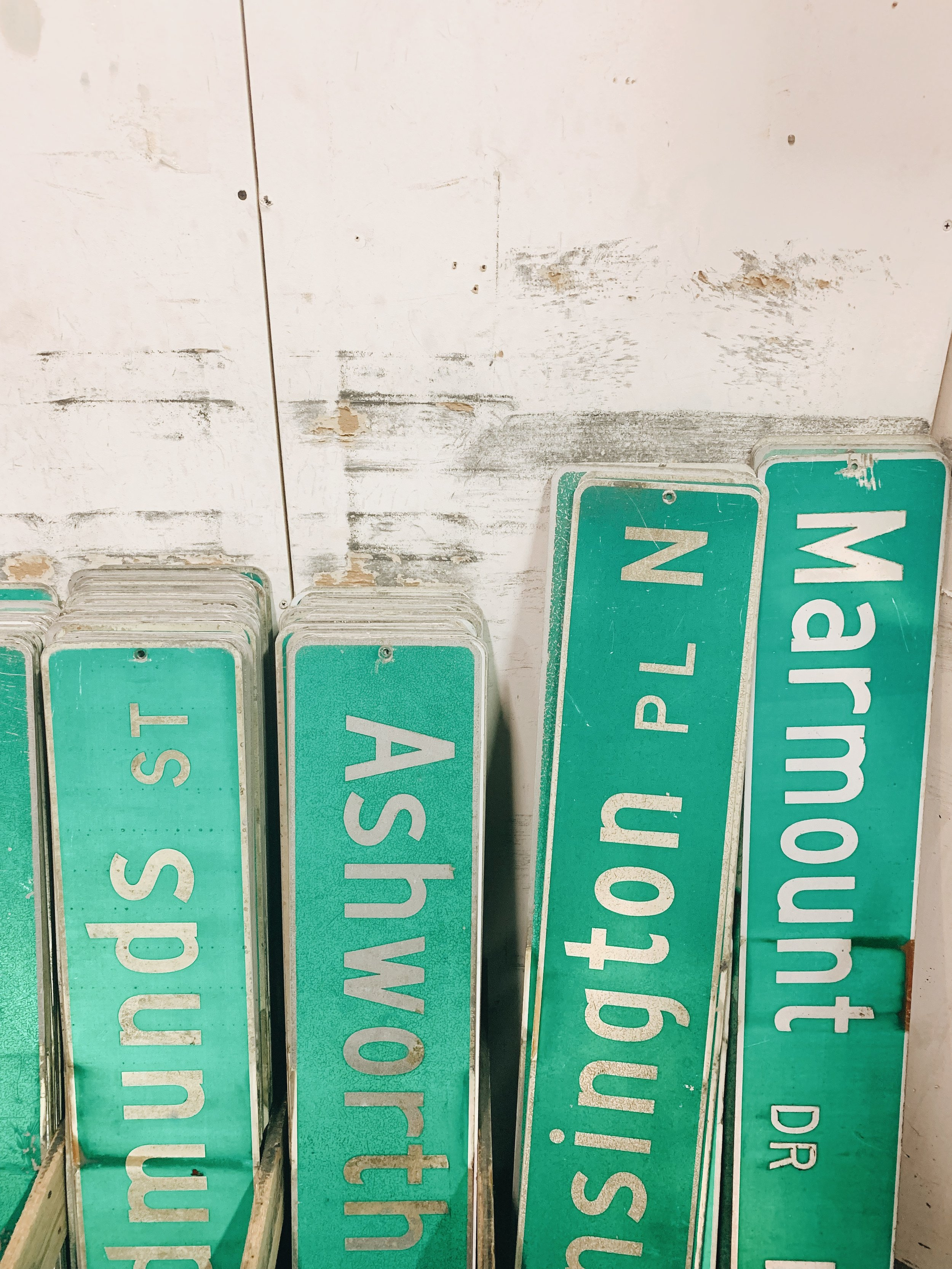 Vintage Seattle Street Signs