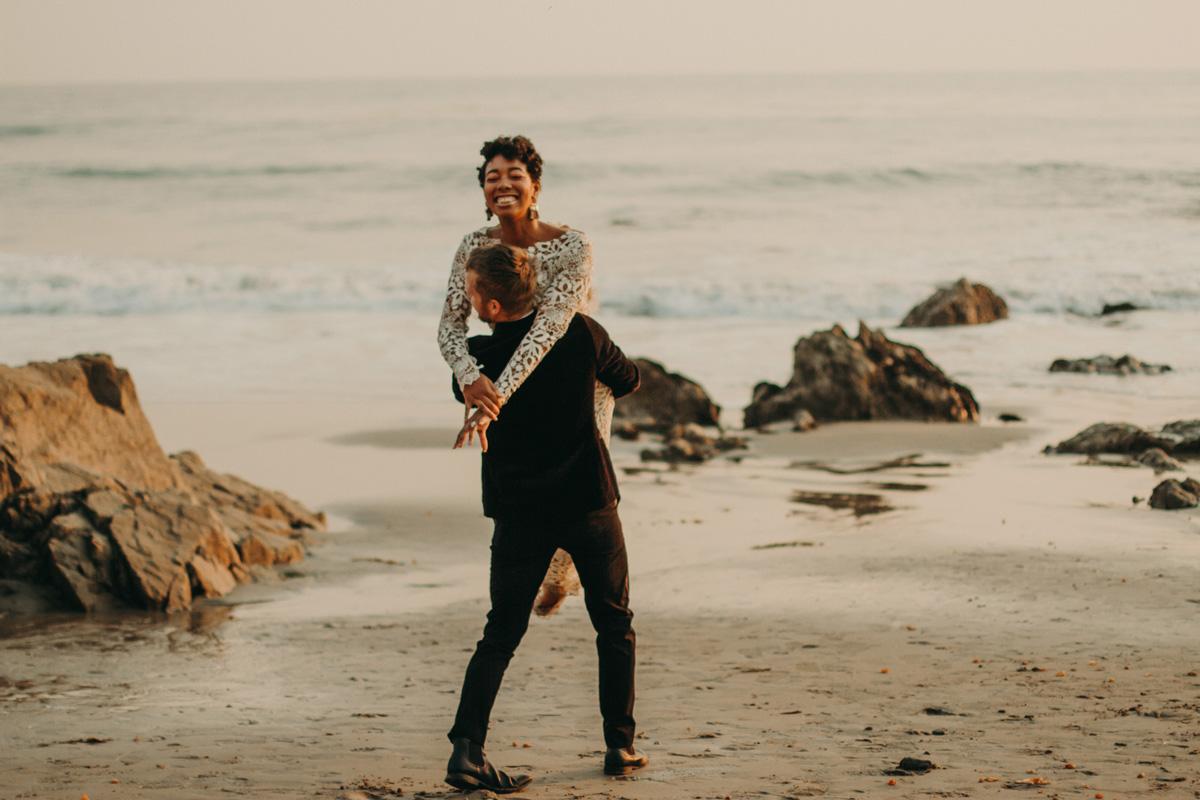 MICHELLE + JOHN - Elopement on the beach in Malibu, CA