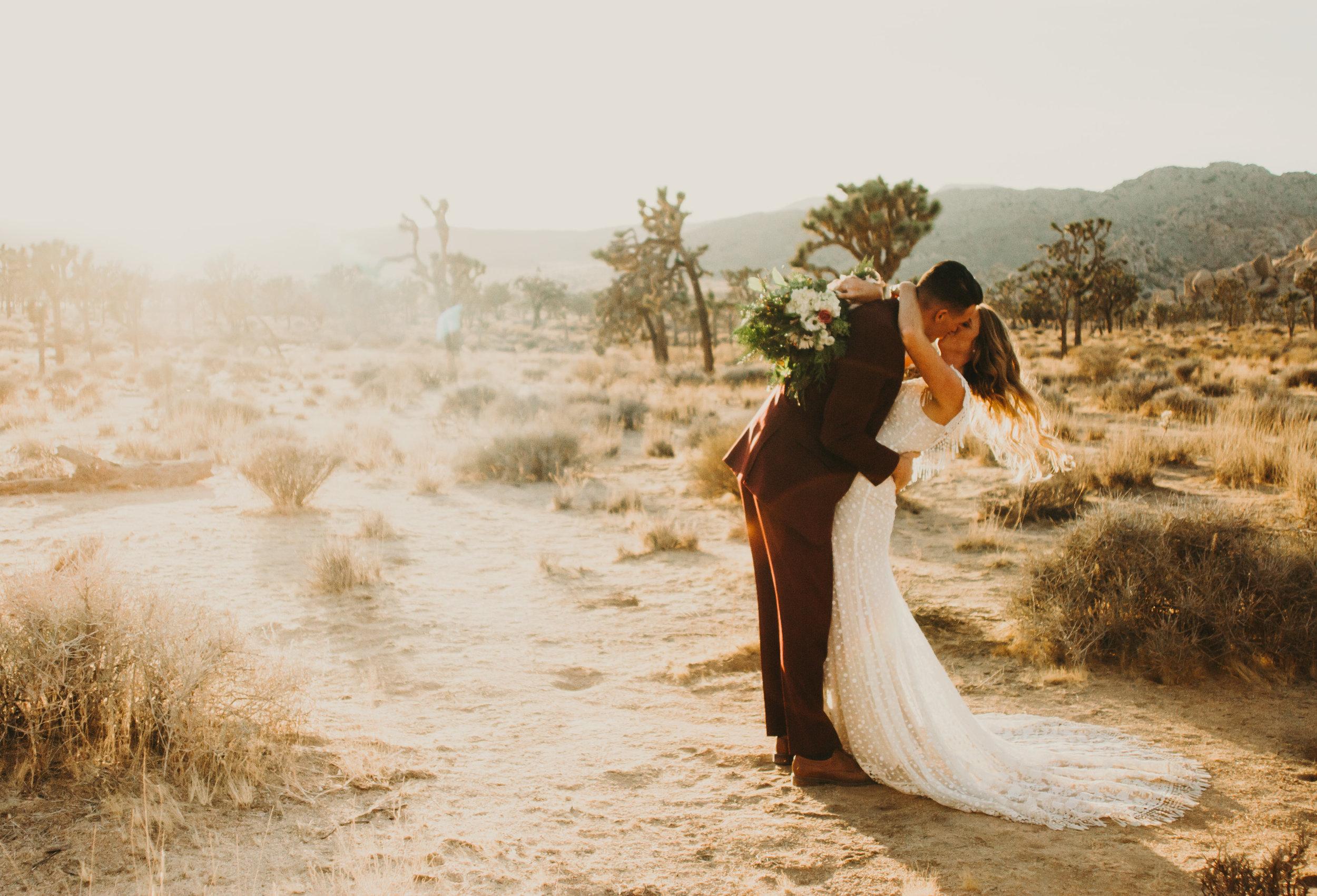 ALYSSA + STEPHEN - Styled elopement in Joshua Tree