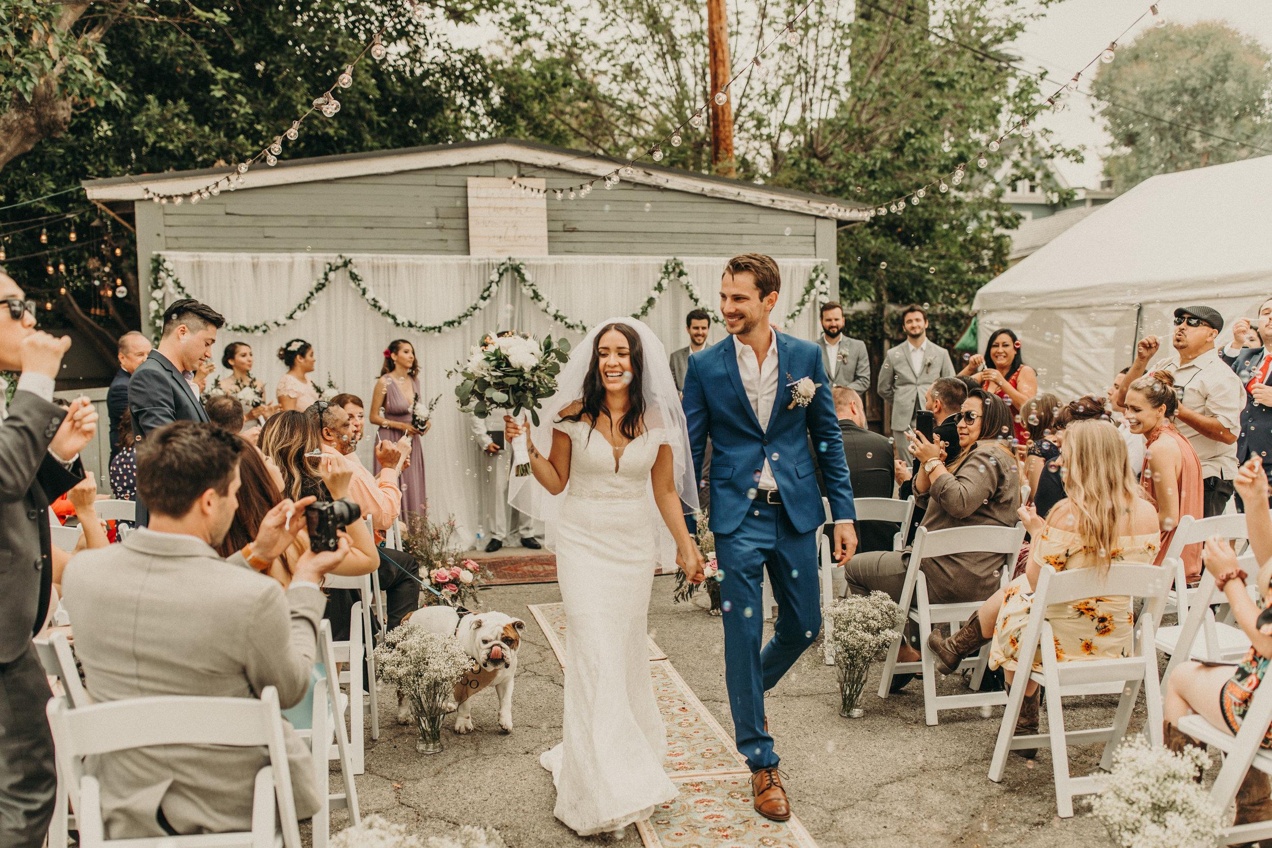 SAM + PAUL - Intimate Backyard Wedding in Pasadena, CA