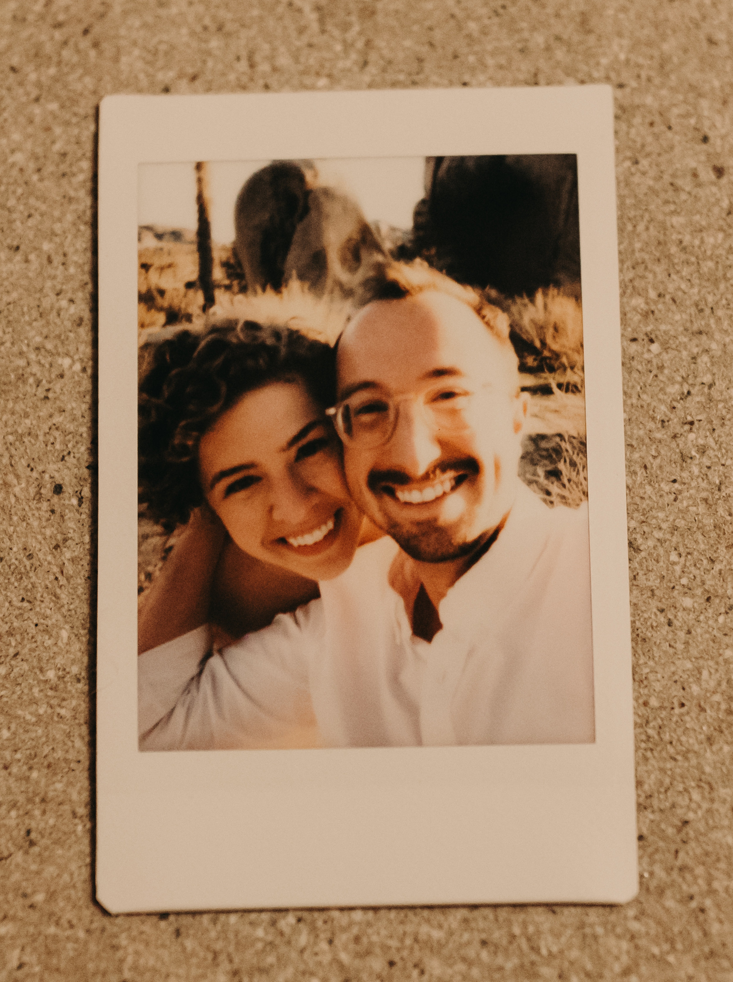 loved that they took a polaroid during our shoot!!