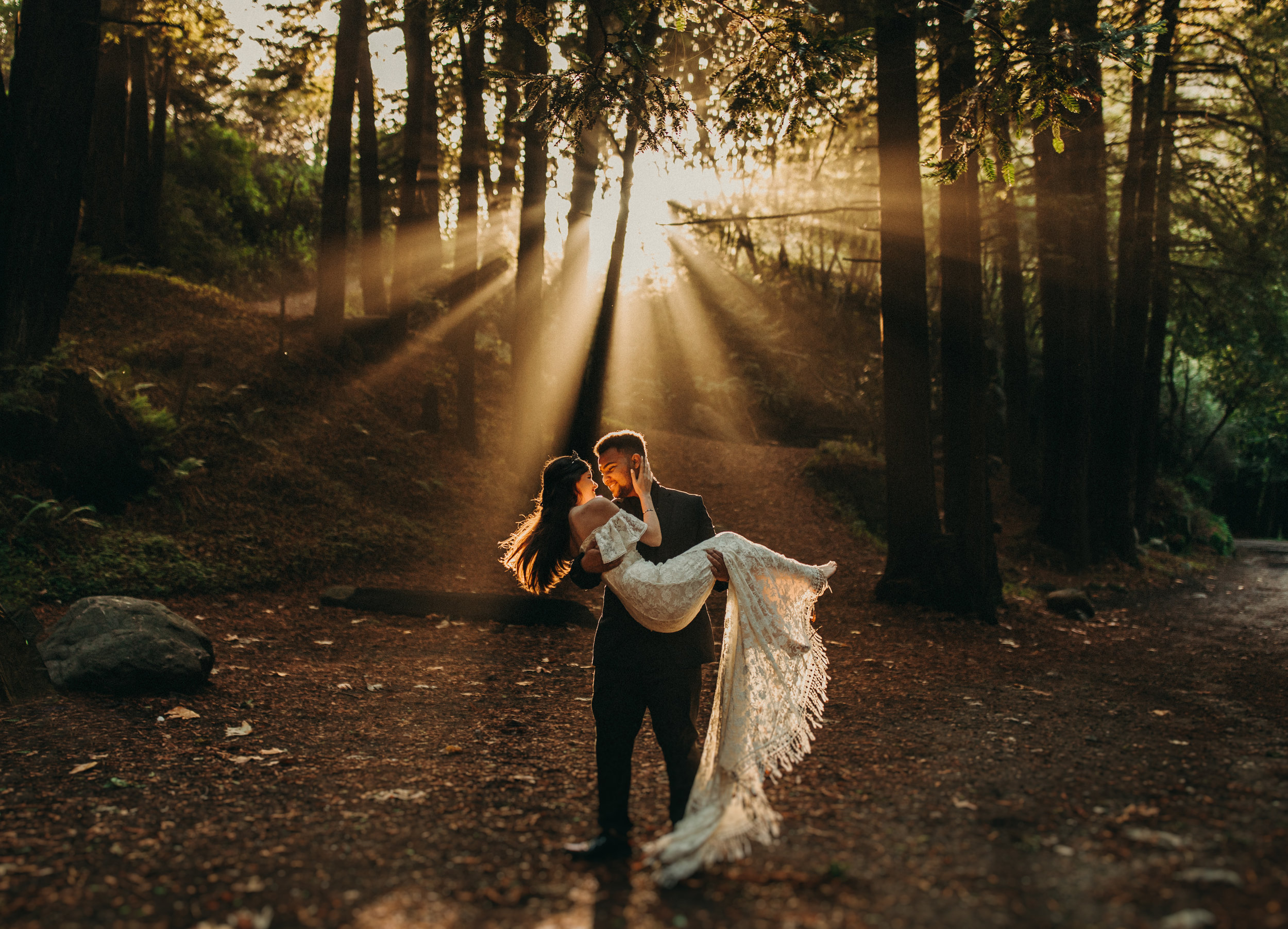 big sur redwoods elopement