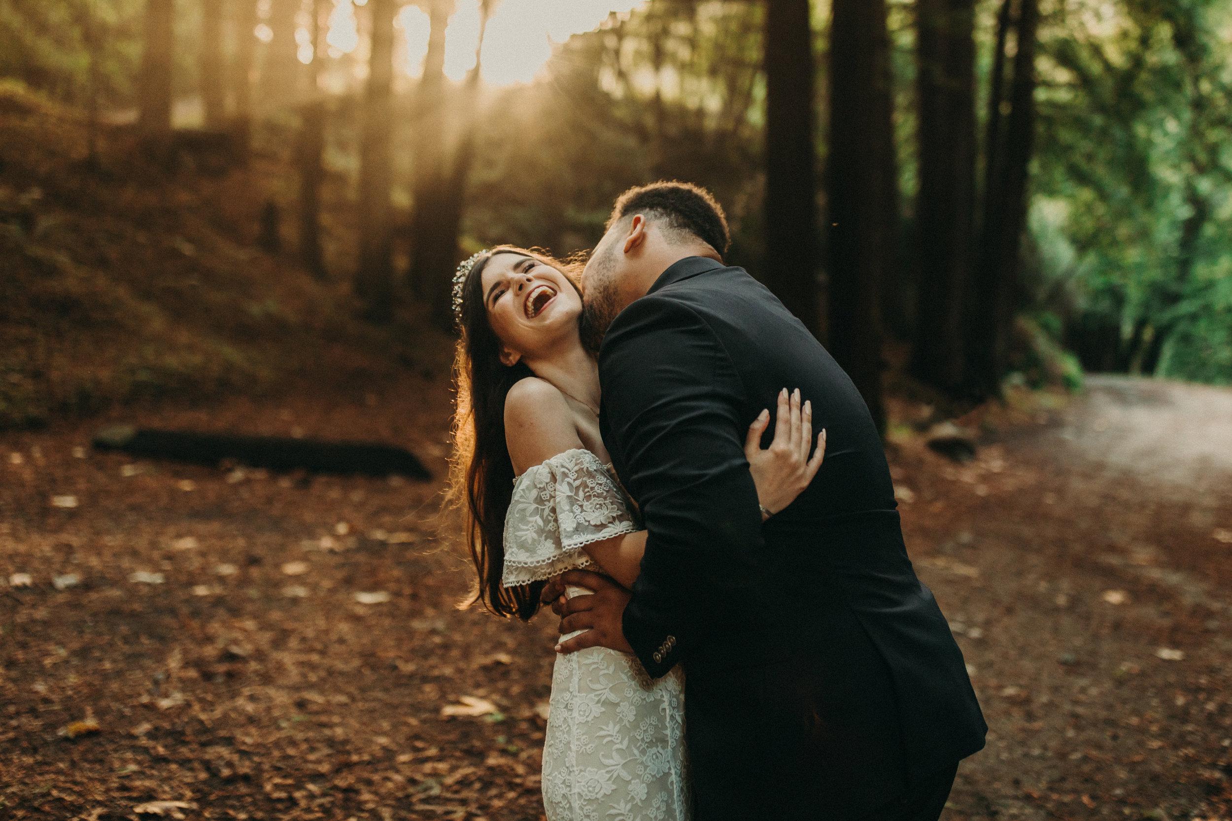 big sur redwood forest elopement