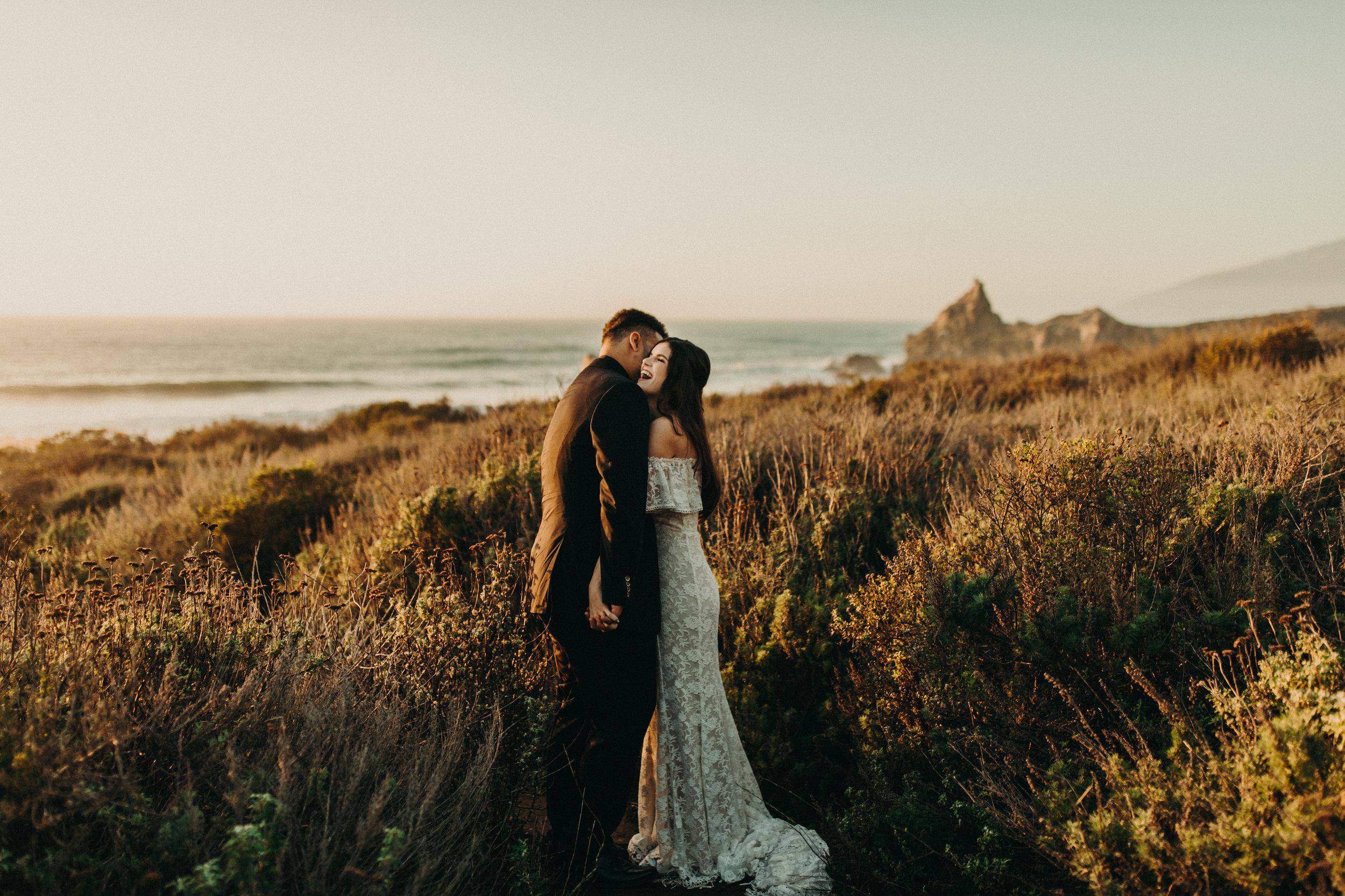 big sure cliffside elopement