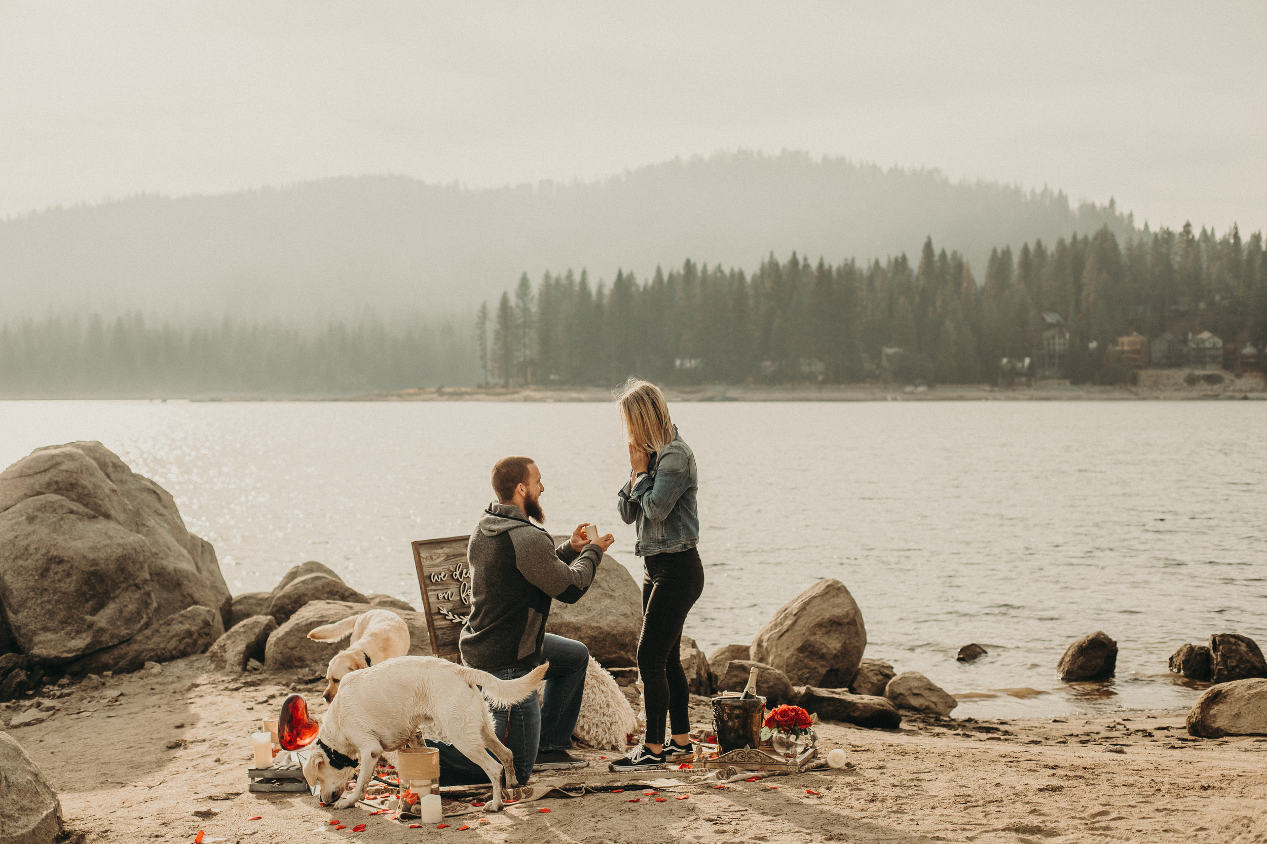 surprise proposal in Shaver Lake
