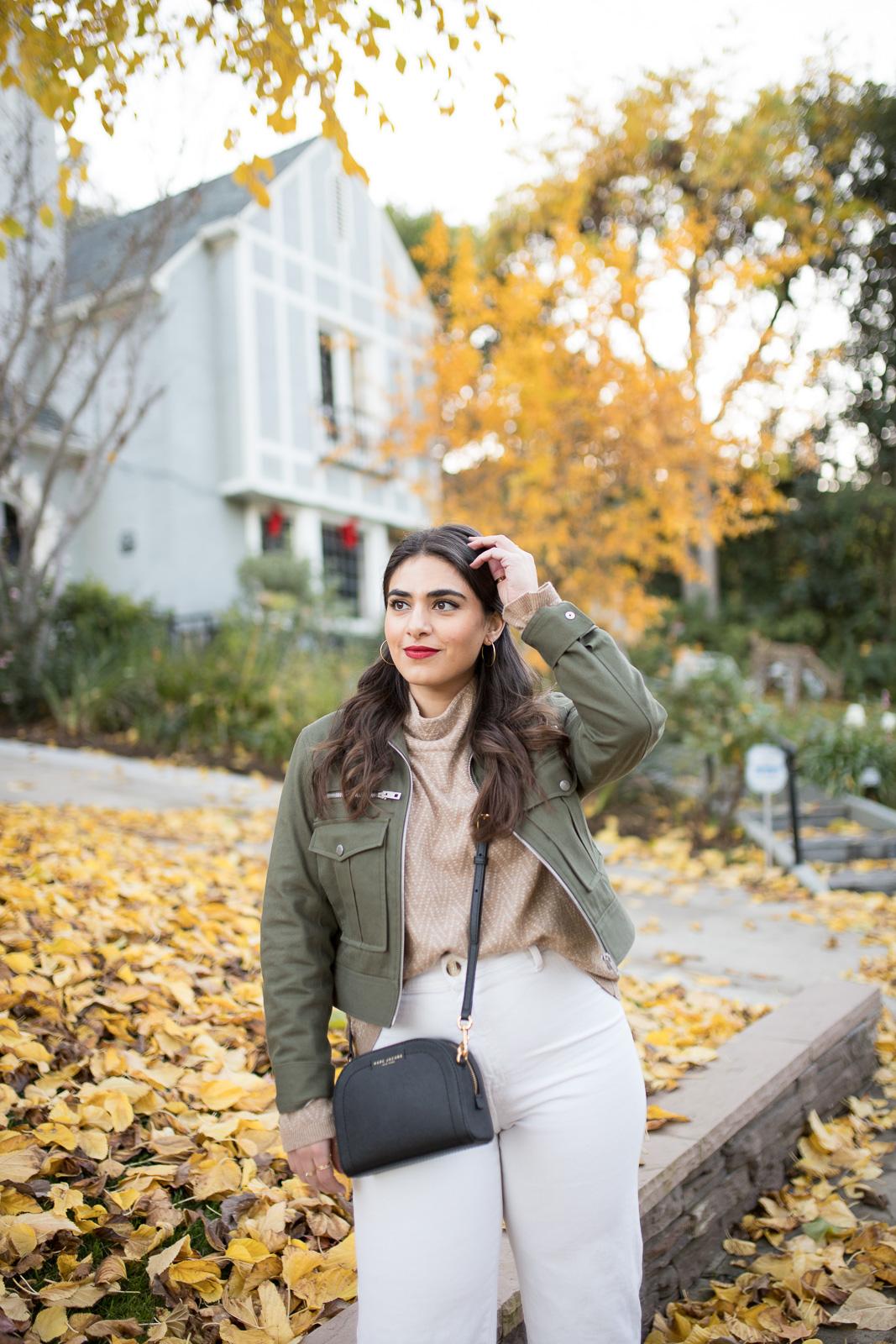 Rag & Bone utility jacket with white denim for Fall