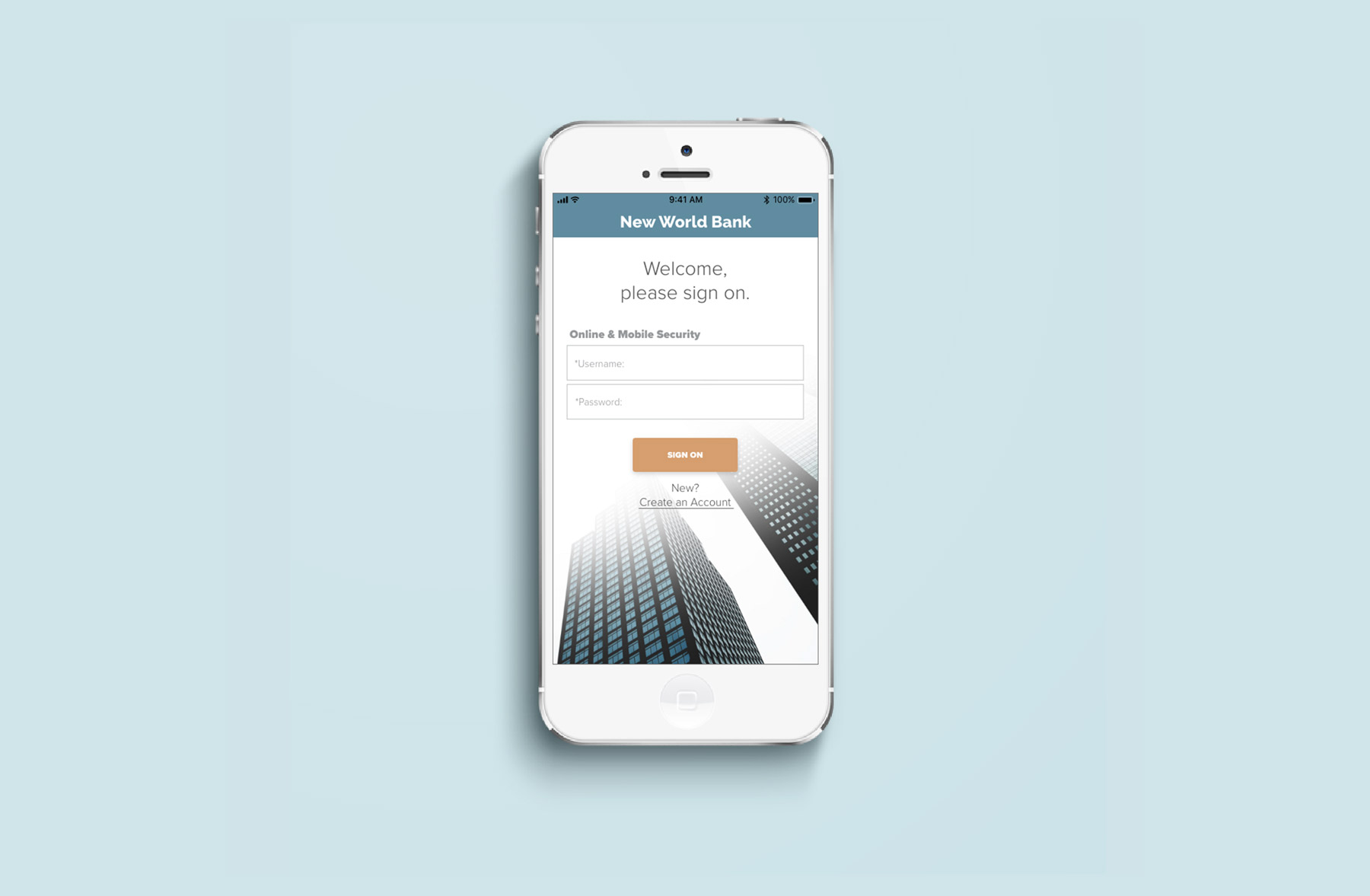New World Bank - A banking app redesign for modern users.