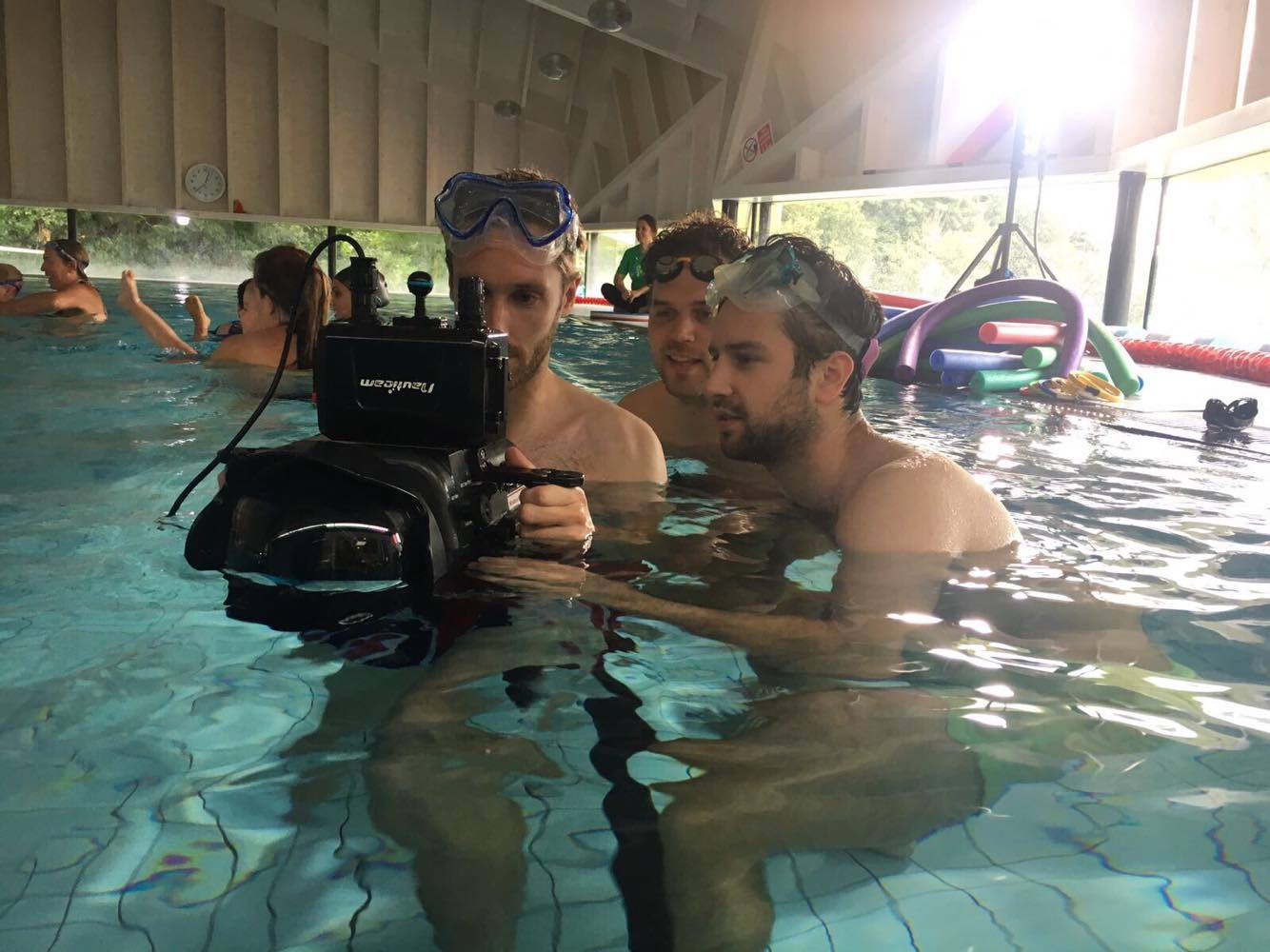 Filming in the pool with Sony FS7