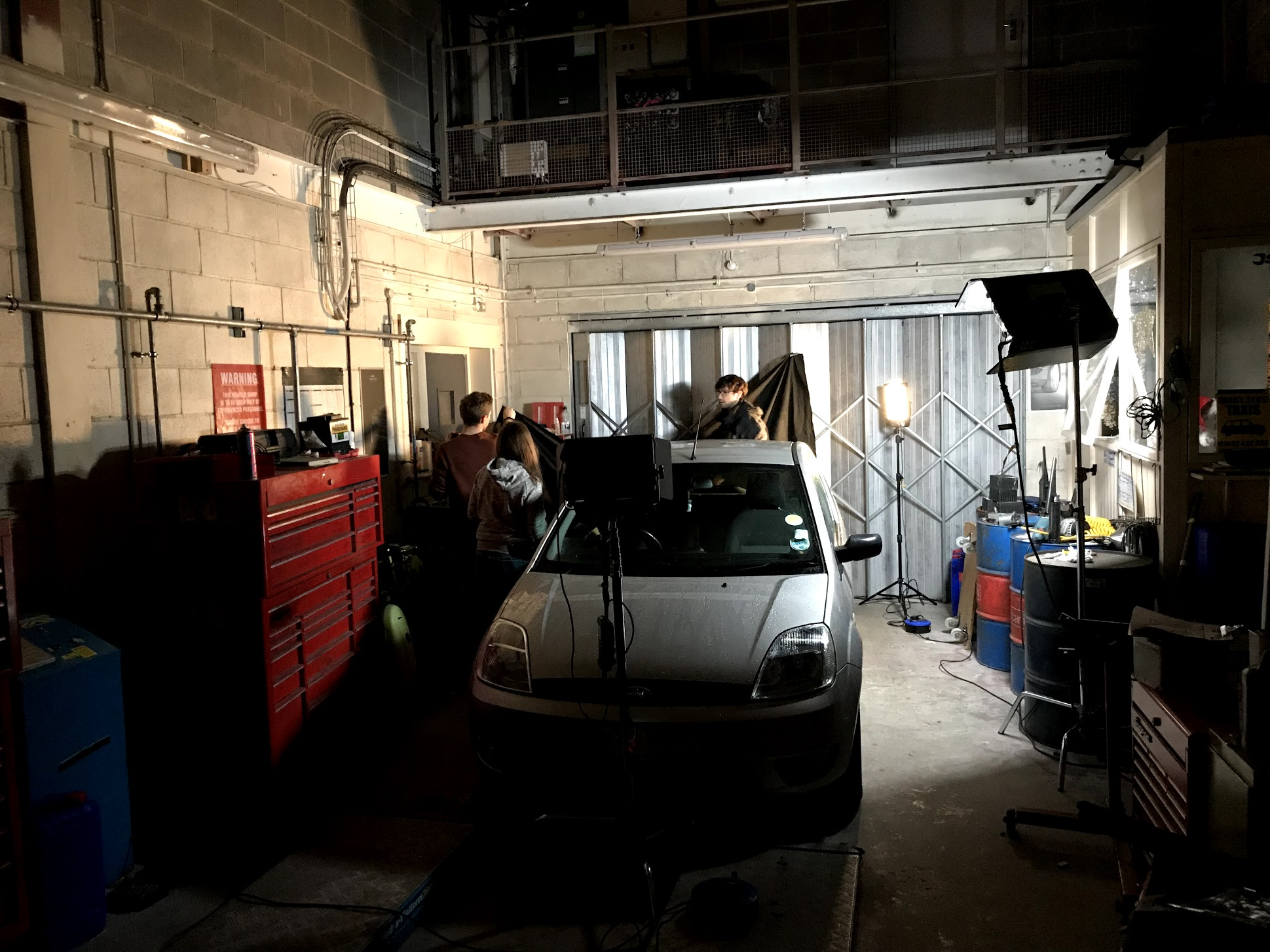 lighting a moving car scene