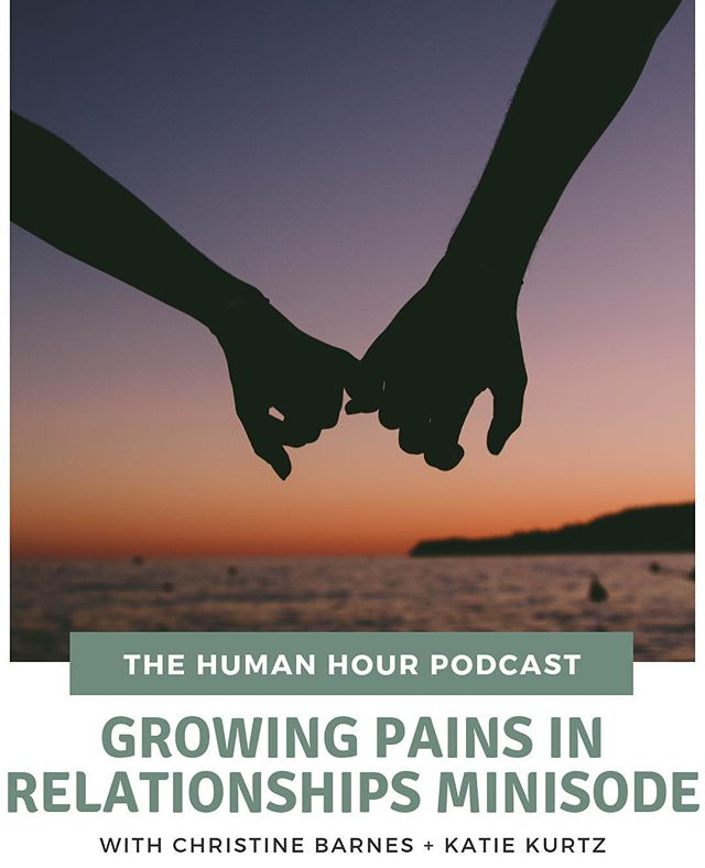 Have you listened to our most recent minisode yet? . It maybe one of our most vulnerable episodes to date because we are jamming on how we've experienced transition and growth in our relationships.  If we are going to be real, we have to go there because growth doesn't get contained in one area of our lives. It affects everything.  Can you relate? Comment below! . #humanhour #humanhourpodcast #adventureawaits #finditliveit #greatbigjourney #humanaf #keepitreal #multipassionate #realtalk #wildandfree #stayhuman #onbeinghuman #daretobehuman #myhumanmoment #femaleentrepreneur #courageiscontagious #vulnerabilityisstrength #relationshipstatus #growthroughit