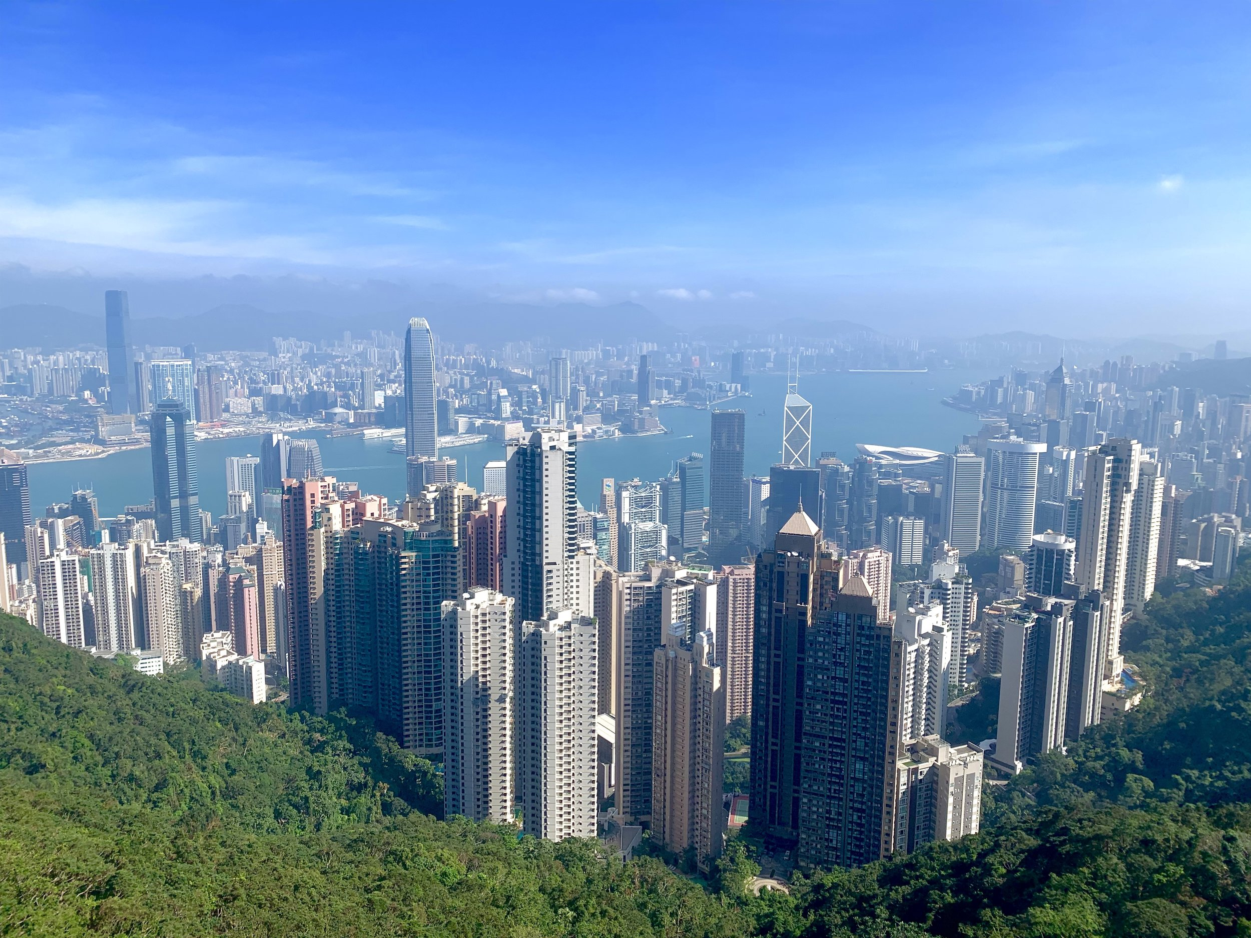Unbelievable views from the highest peak in Hong Kong Island at 1,818 feet