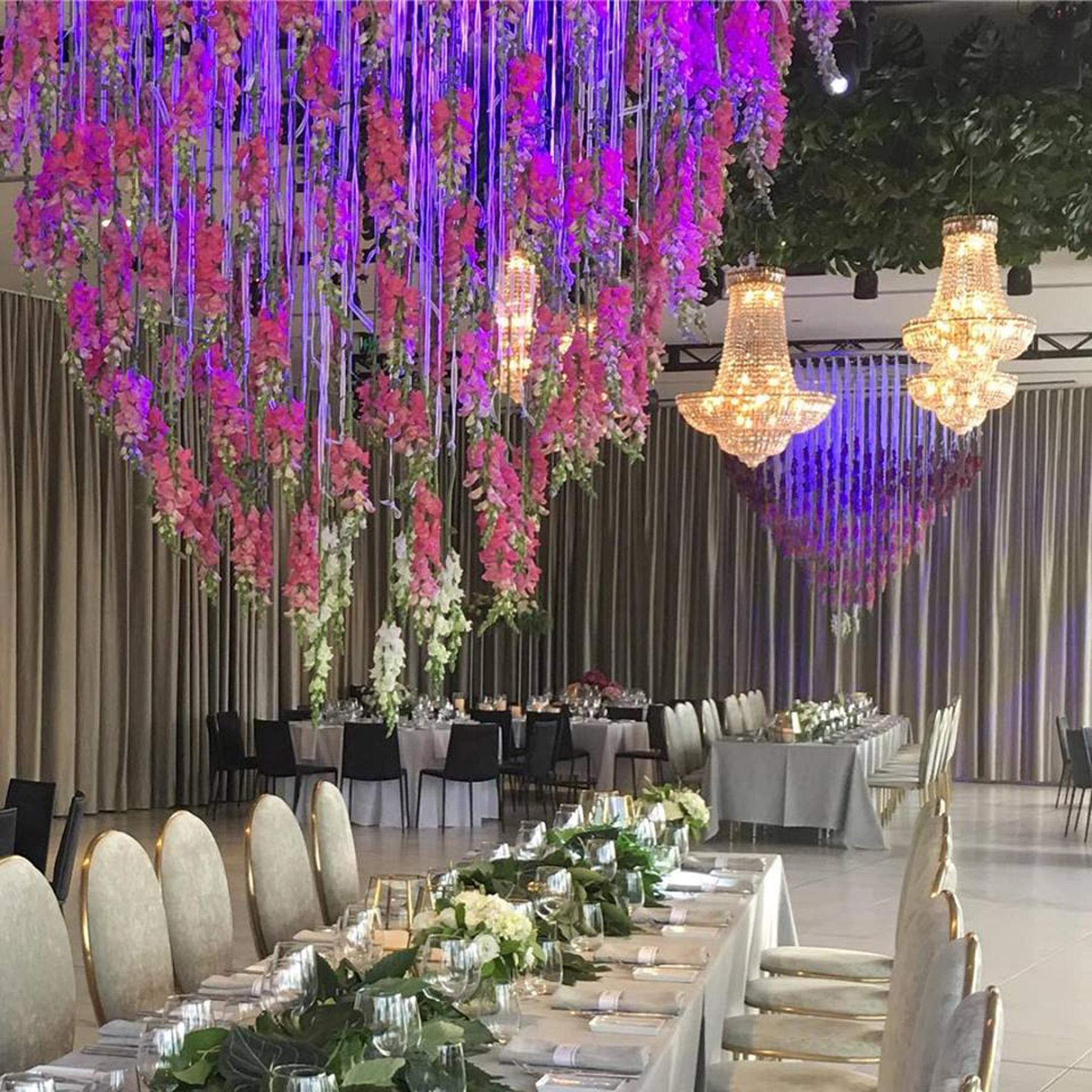 Custom Design   French Basket Series   Floral Ceiling Installation