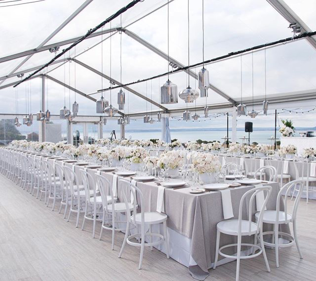 Glass Lanterns and Festoons in Marquee.jpg